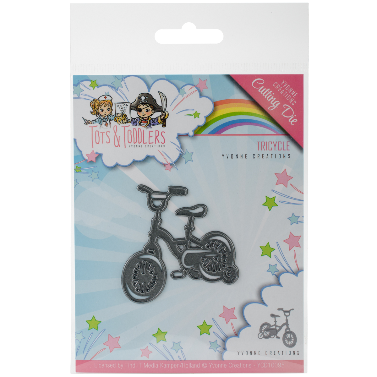Find It Trading Yvonne Creations Die-Tricycle, Tots & Toddlers