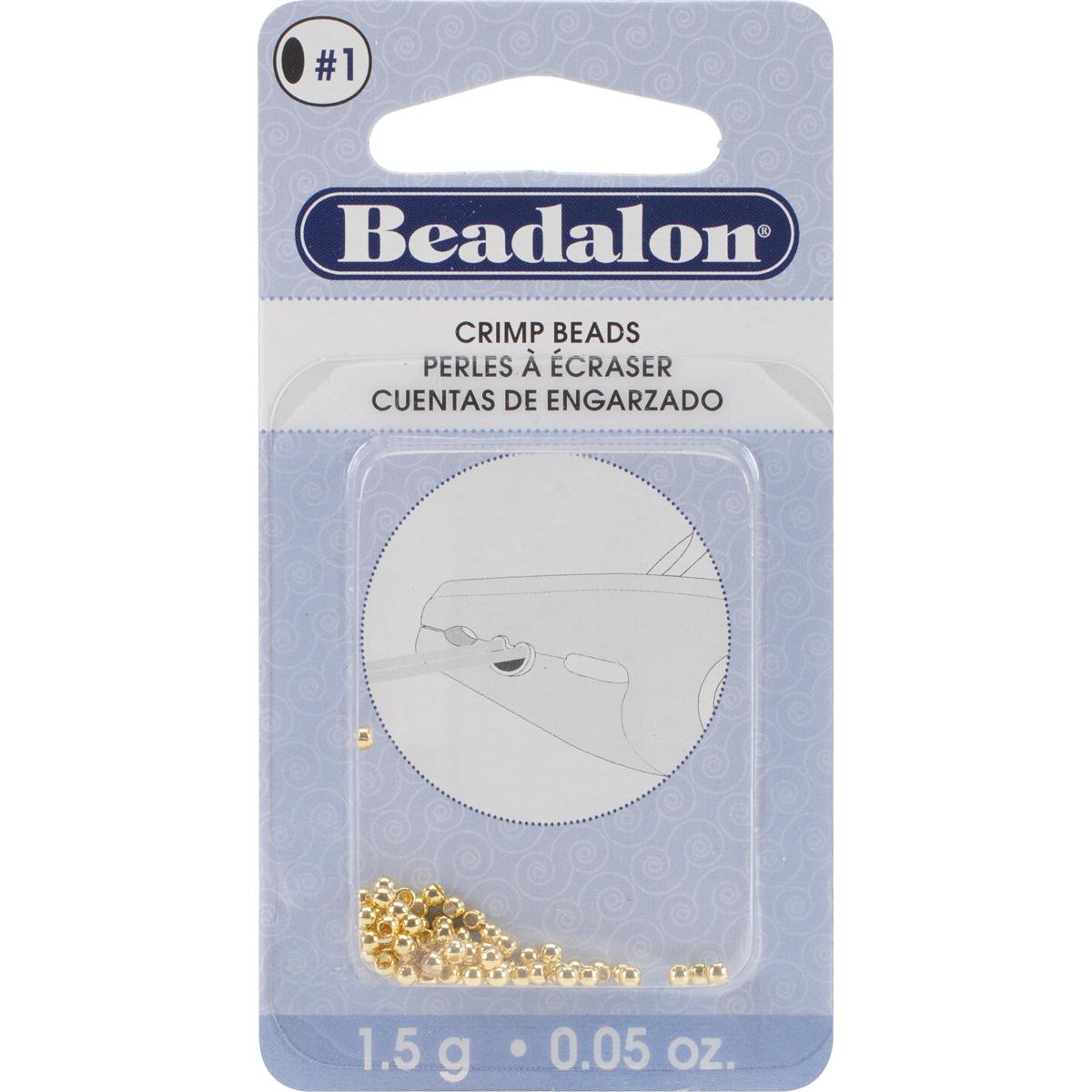 1.5 Grm Bag Crimp Beads 2mm G