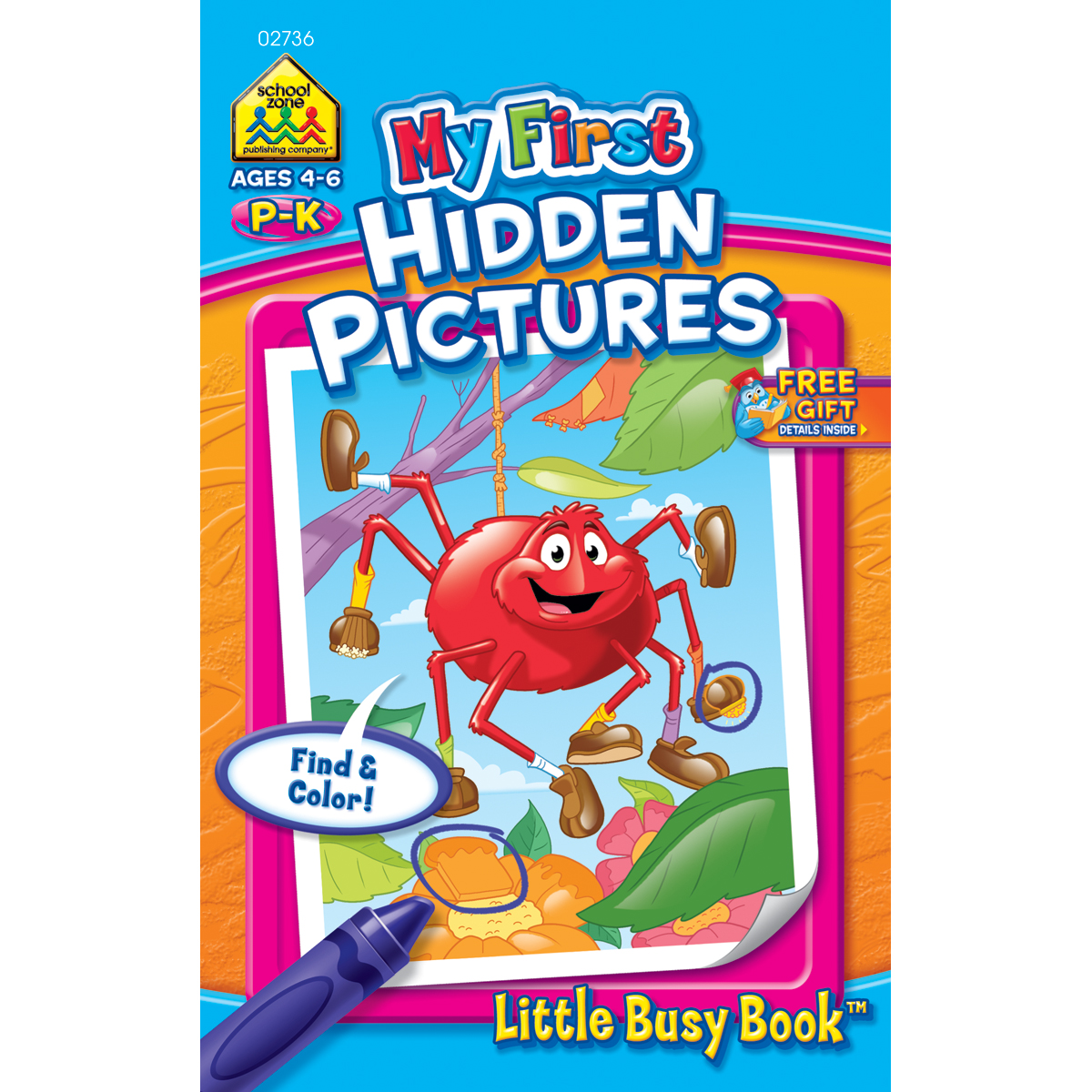 My First Little Busy Book-Hidden Pictures - Grades P-K