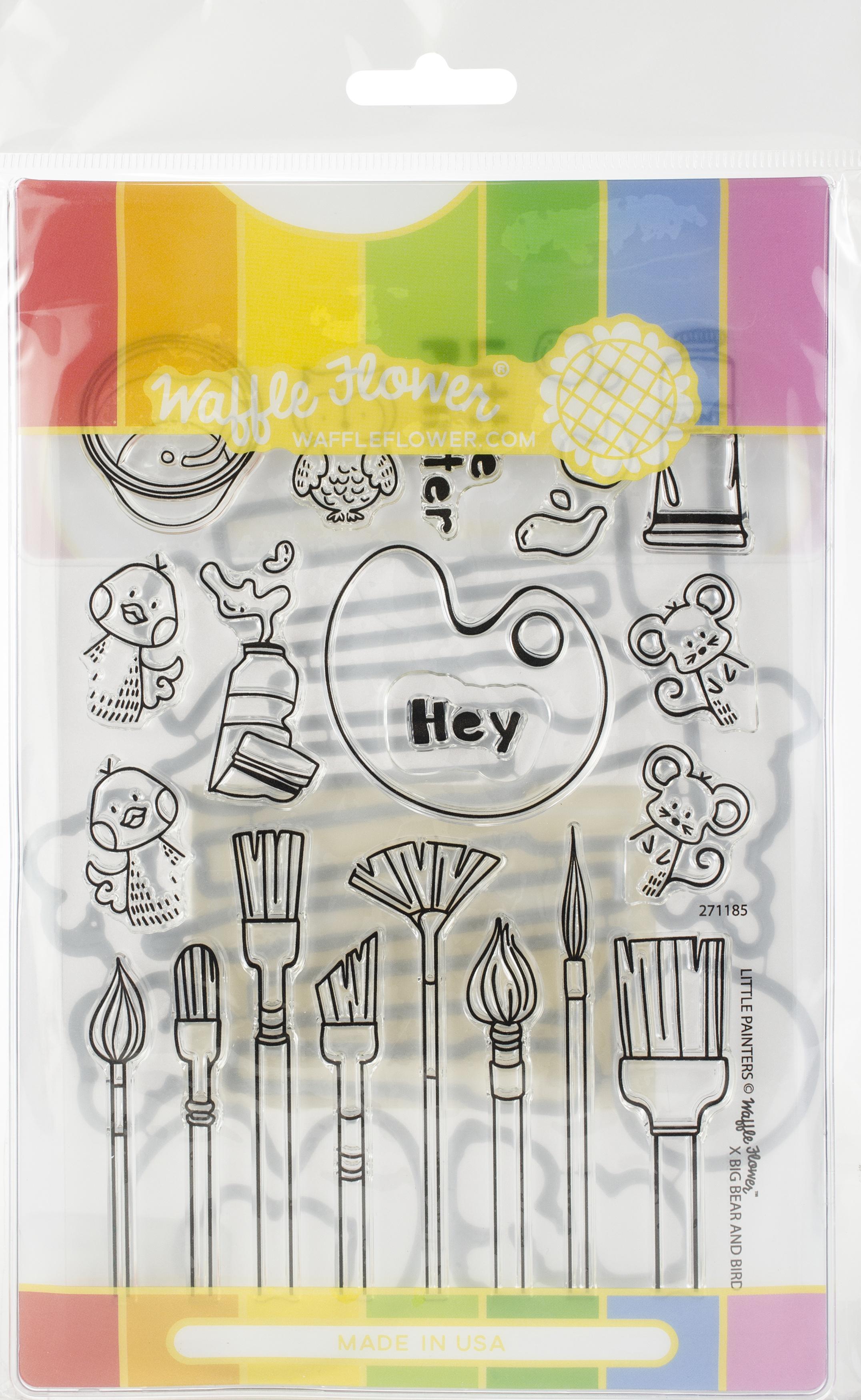 Waffle Flower Stamp & Die Set-Little Painters