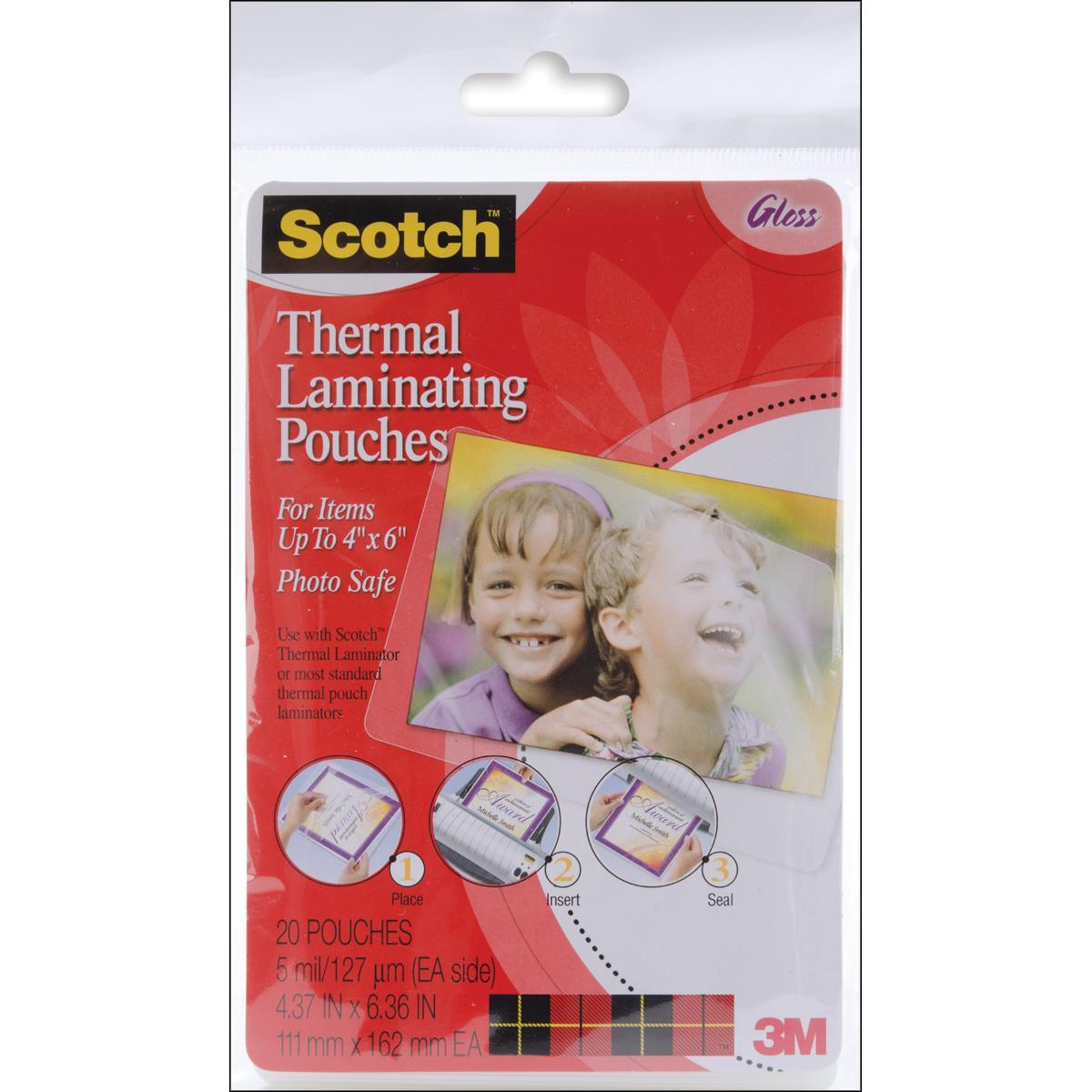 Scotch Laminating Pouches 4x6 20pc