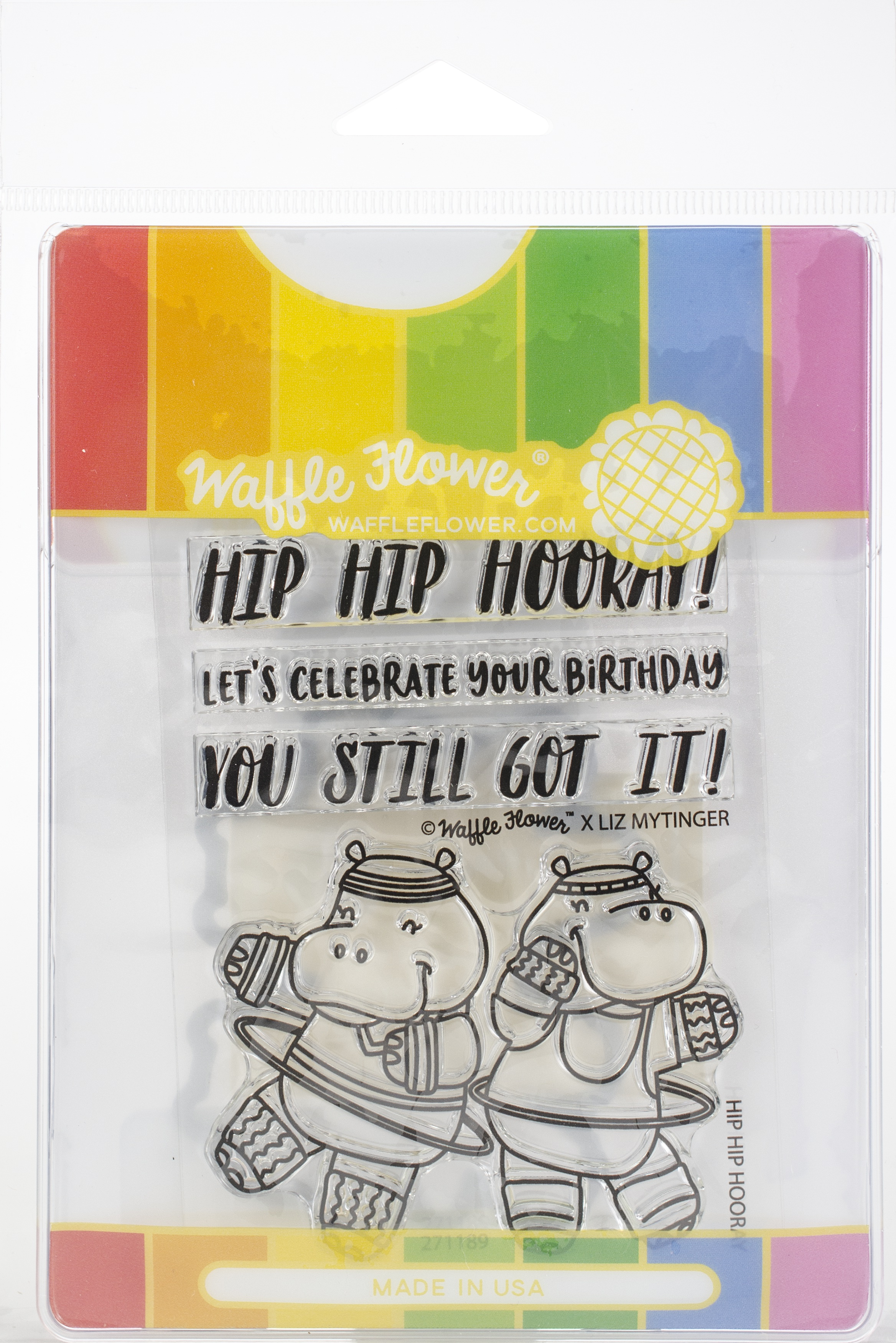 Waffle Flower Stamp & Die Set-Hip Hip Hooray