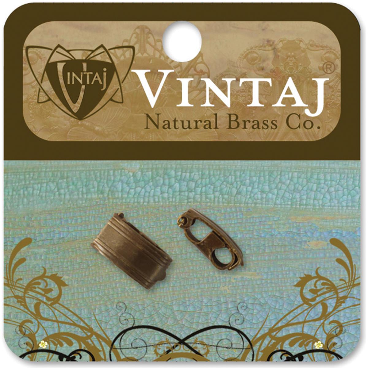 Vintaj Metal Clasp-Bracelet Foldover 13mmX6.5mm 2/Pkg