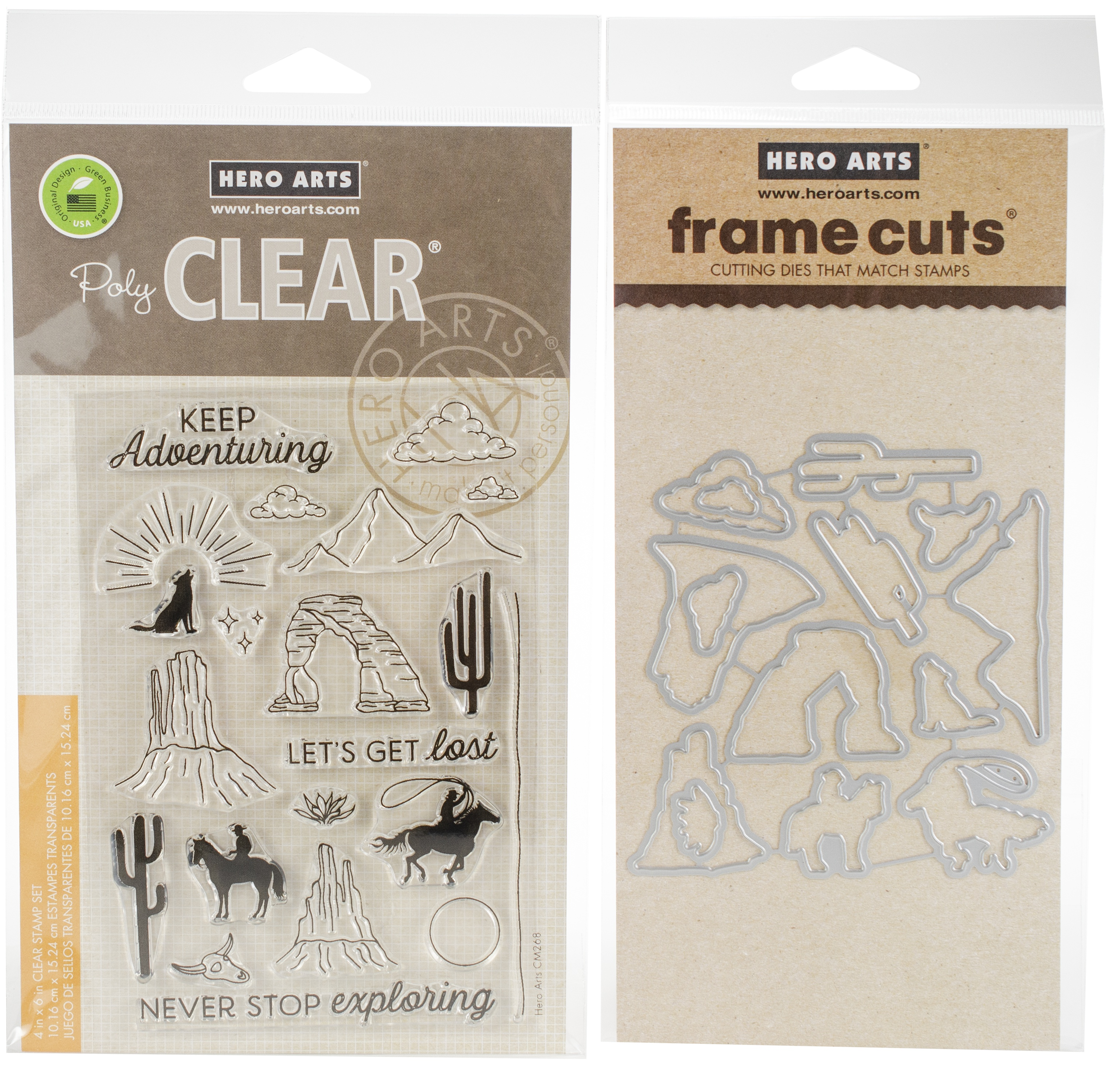 Hero Arts Clear Stamp & Die Combo-Cowboy Adventure
