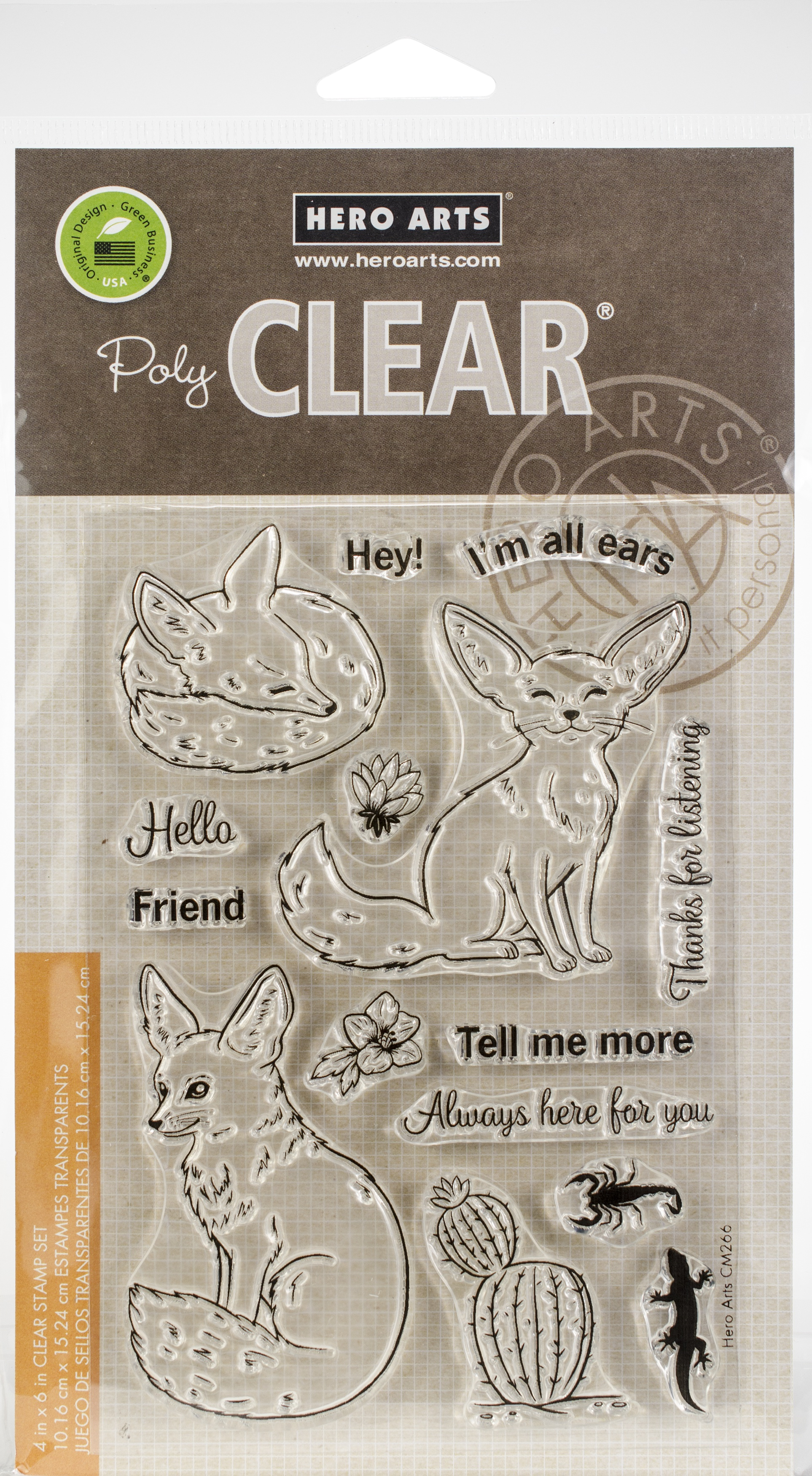 Hero Arts Clear Stamps 4X6-Fennec The Fox