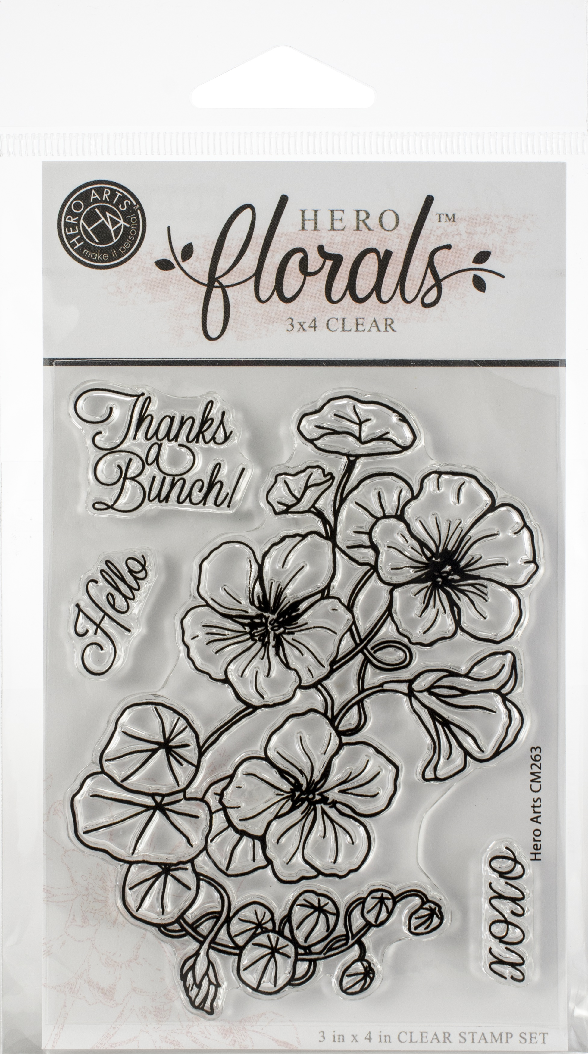 Hero Arts Florals Clear Stamps 3X4-Nasturtium