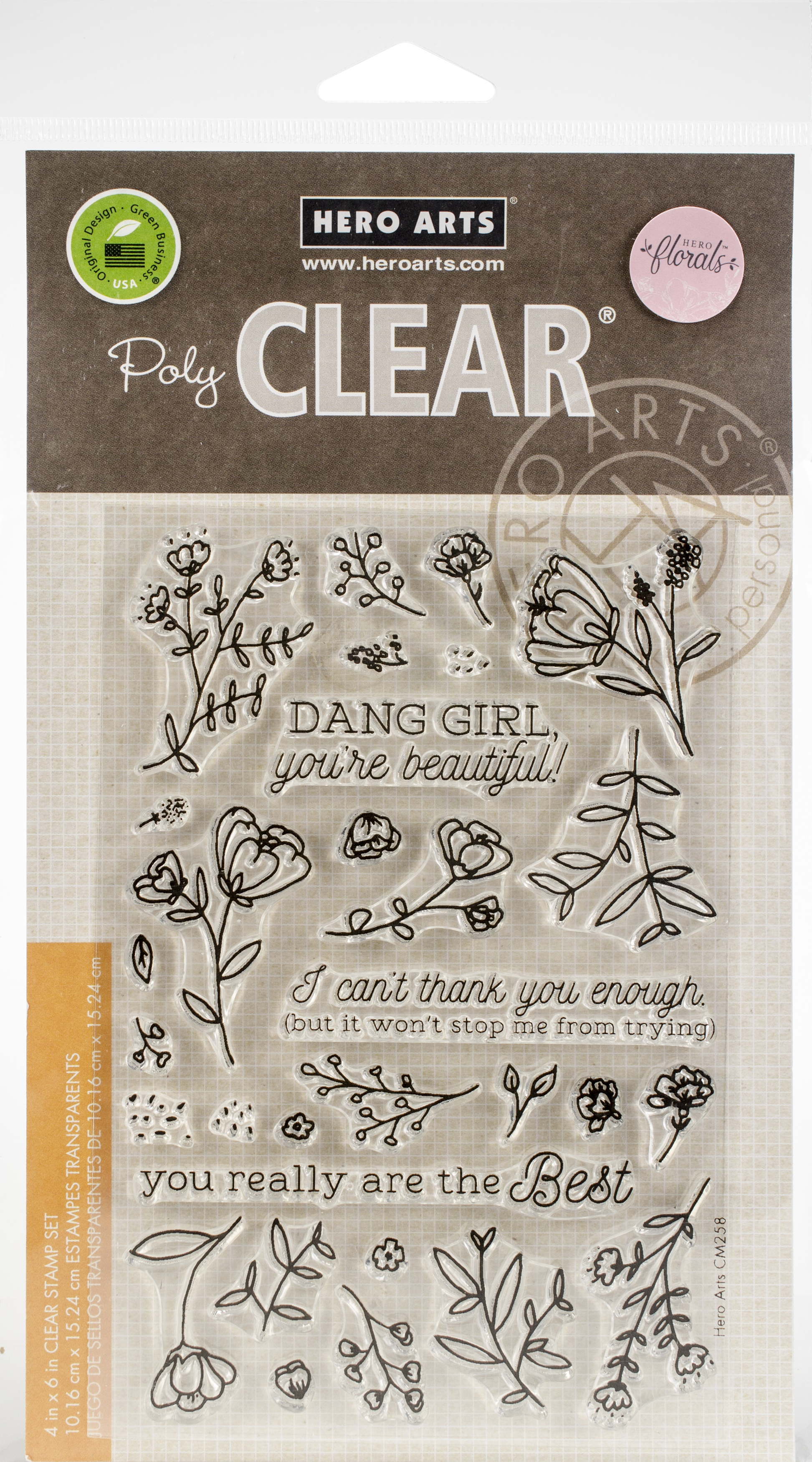 Hero Arts Clear Stamps 4X6-You're Beautiful!