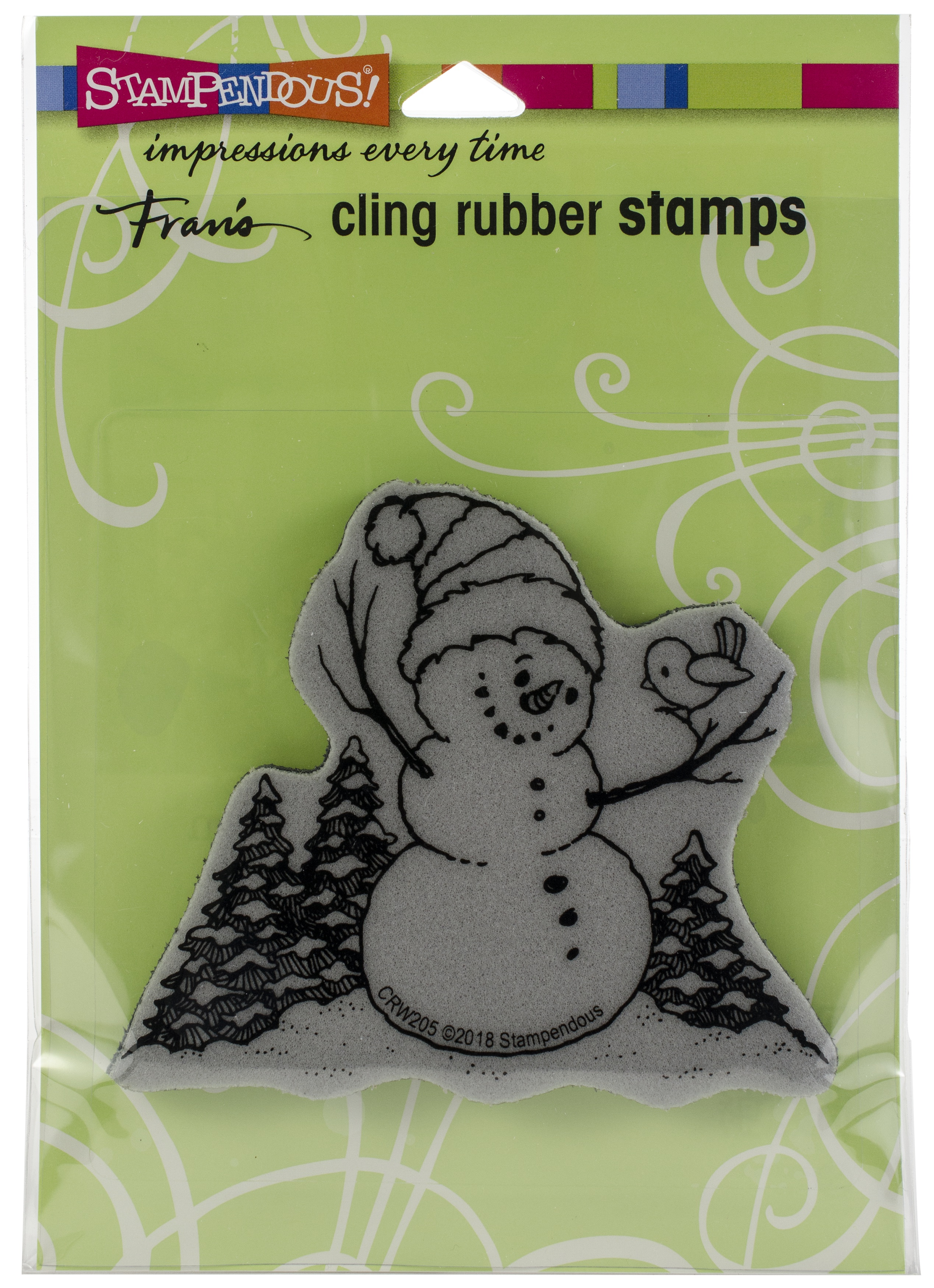 Stampendous - Snowman Perch Cling Stamp