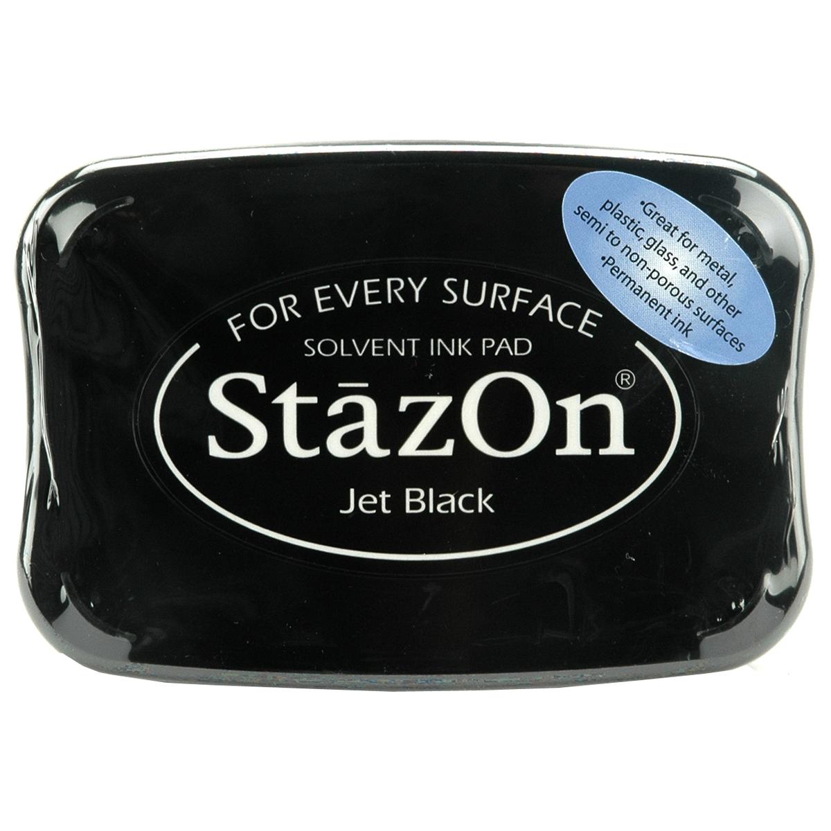 StazOn Solvent Ink Pad-Jet Black