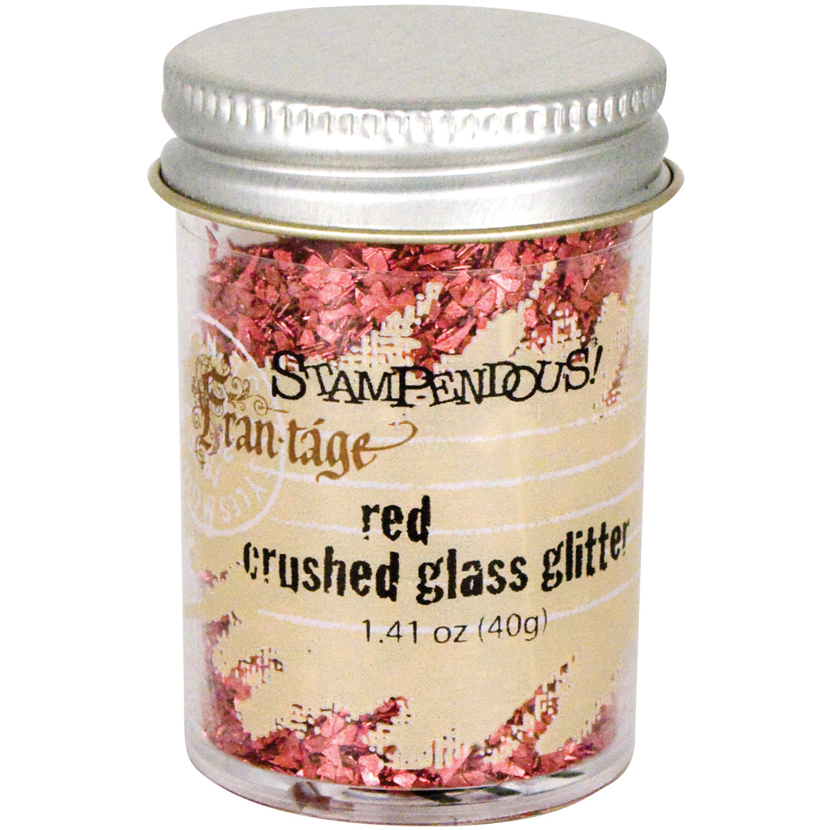 Crushed Glass Glitter Red