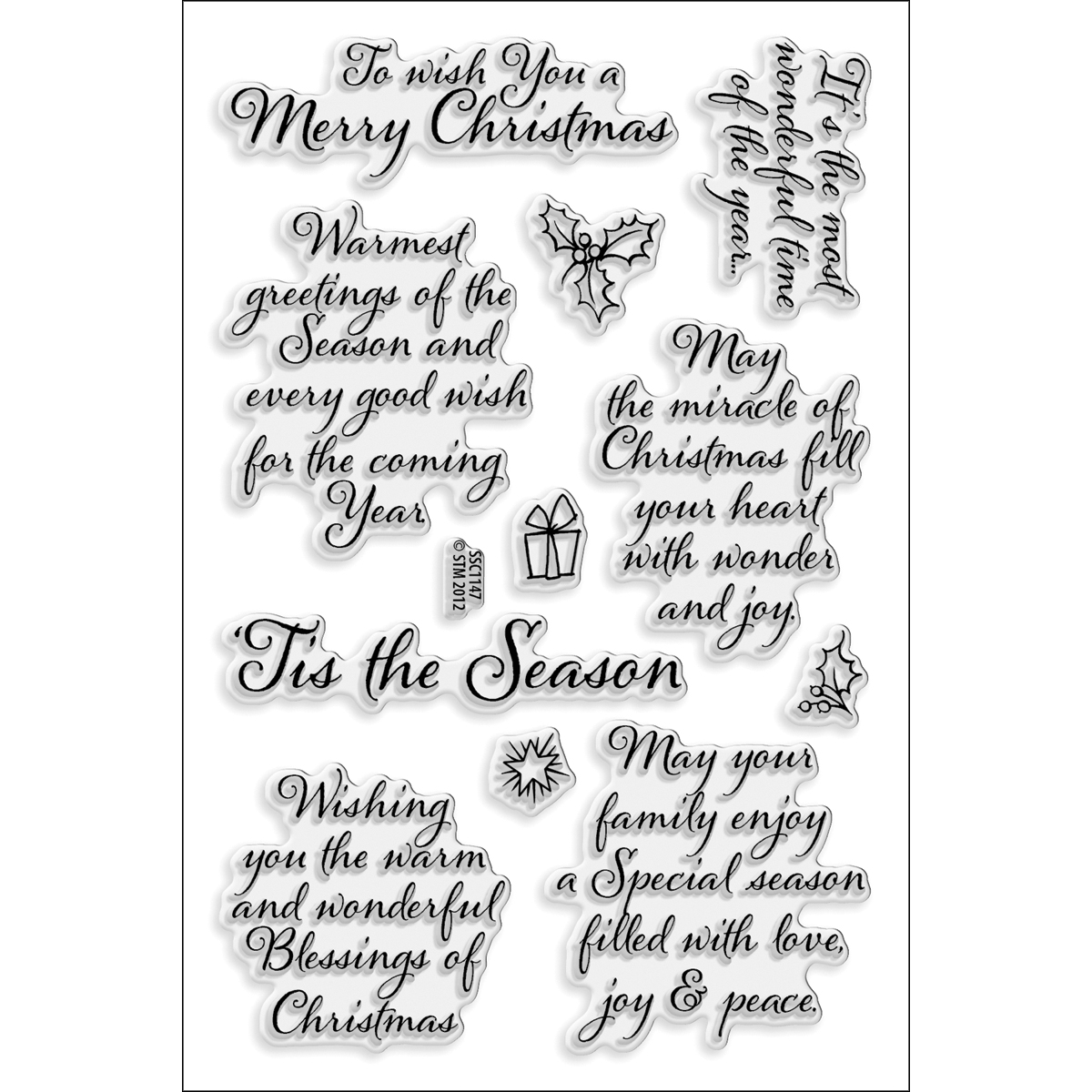 Stampendous Perfectly Clear Stamps -Tis The Season