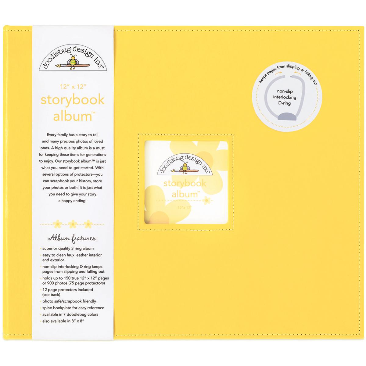 Doodlebug Storybook D-Ring Album 12X12-Bumblebee