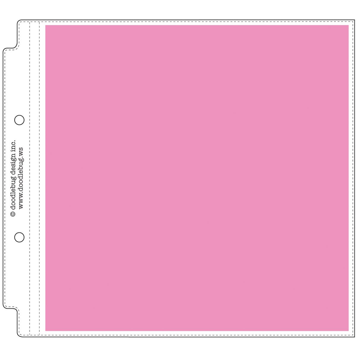 Doodlebug Page Protectors 8X8 12/Pkg-(1) 8X8 Pocket