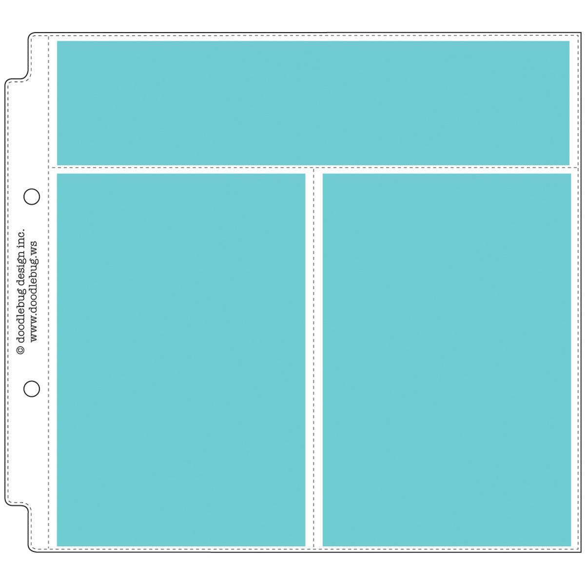Doodlebug Page Protectors 8X8 12/Pkg-(1) 8.25X2 & (2) 4X6 Pockets