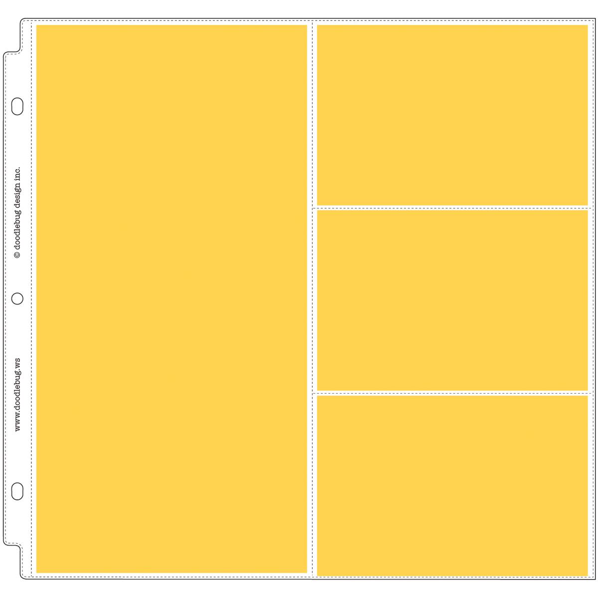 Doodlebug Page Protectors 12X12 12/Pkg-(1) 6X12 & (3) 6X4 Pockets