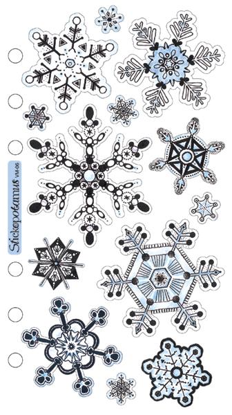 Sticko Vellum Stickers-Snowflakes