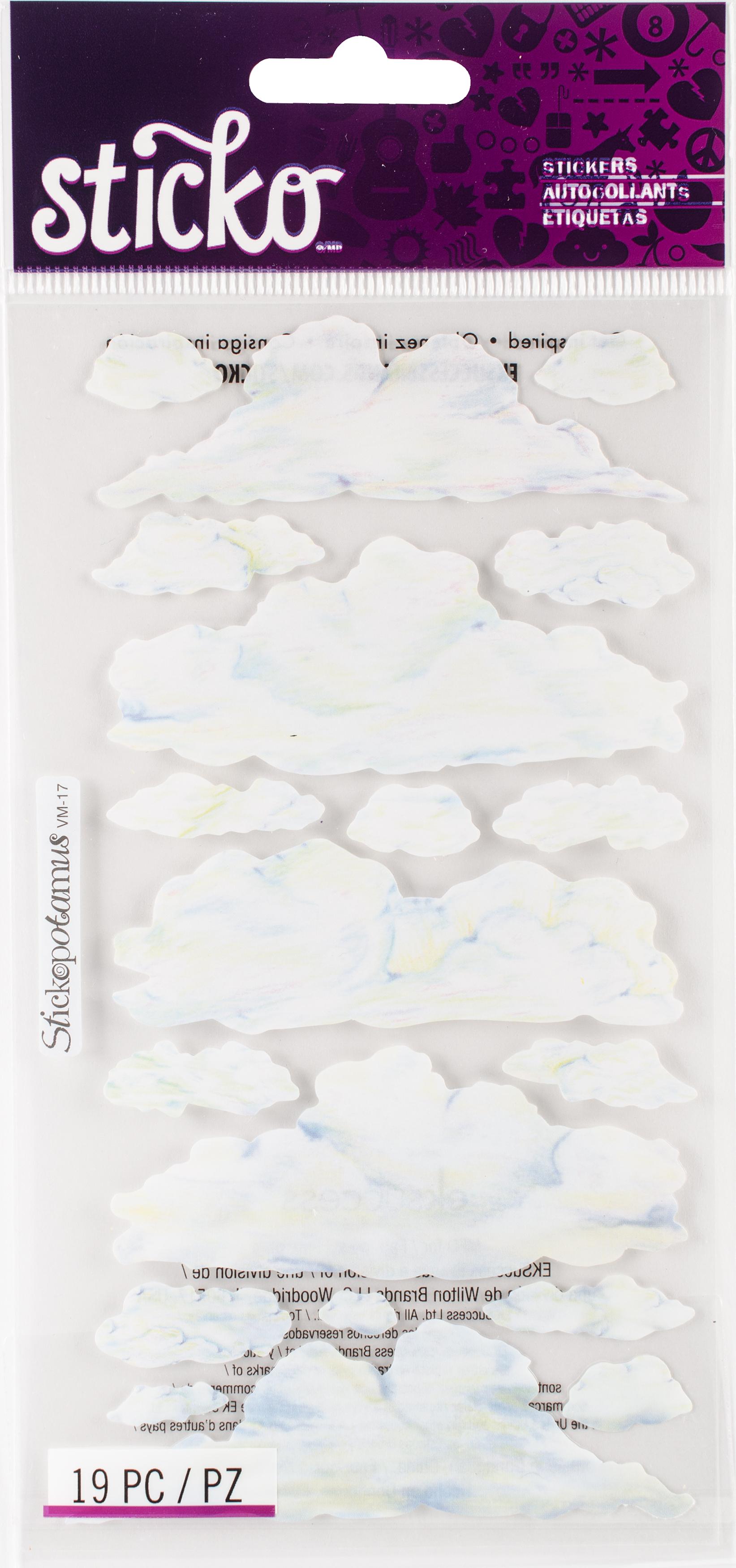 AC Vellum Clouds Stickers