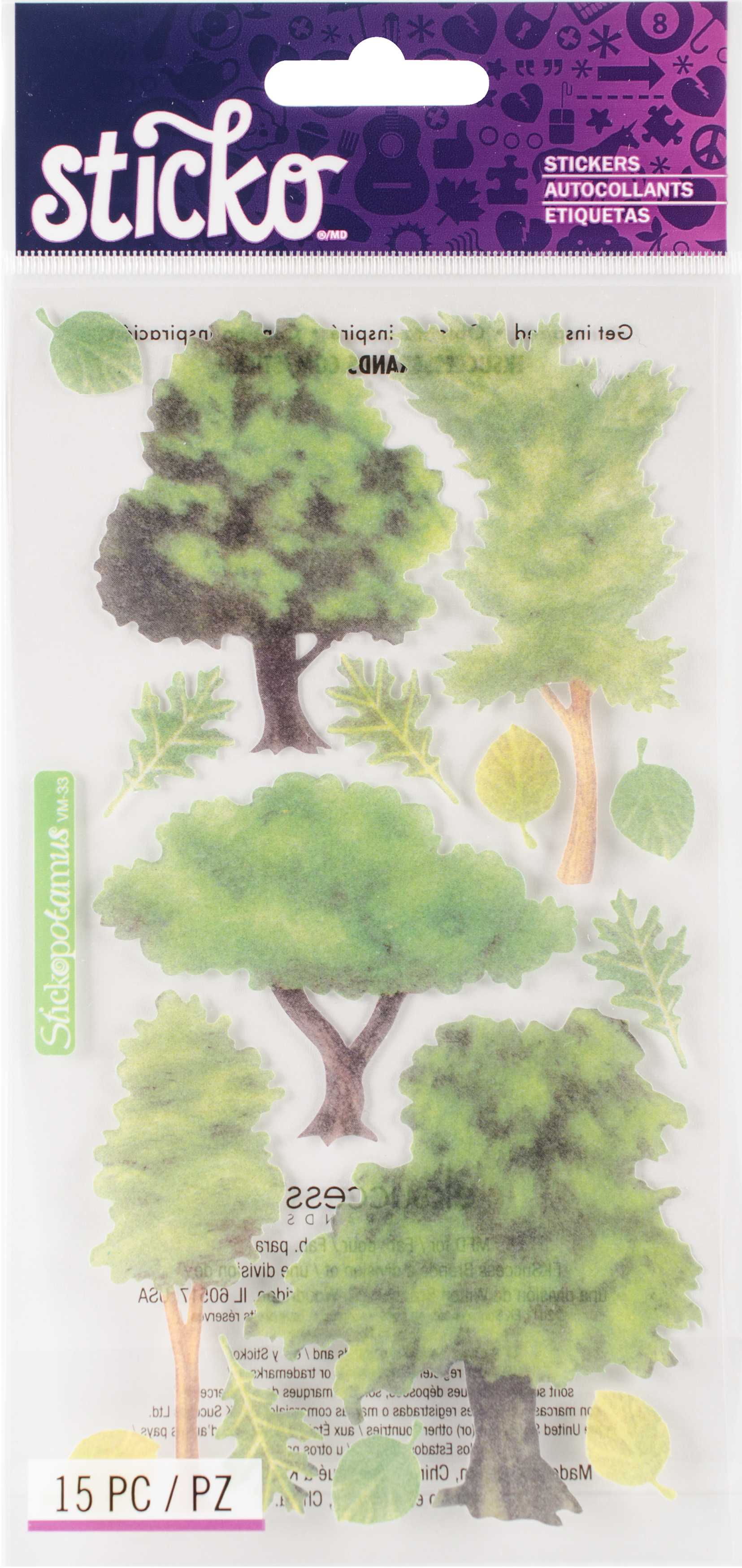 TREES     -VELLUM STICKERS