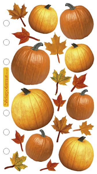 Sticko Stickers-Autumn Pumpkins