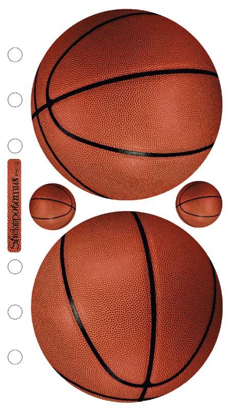 Sticko Stickers-Basketballs