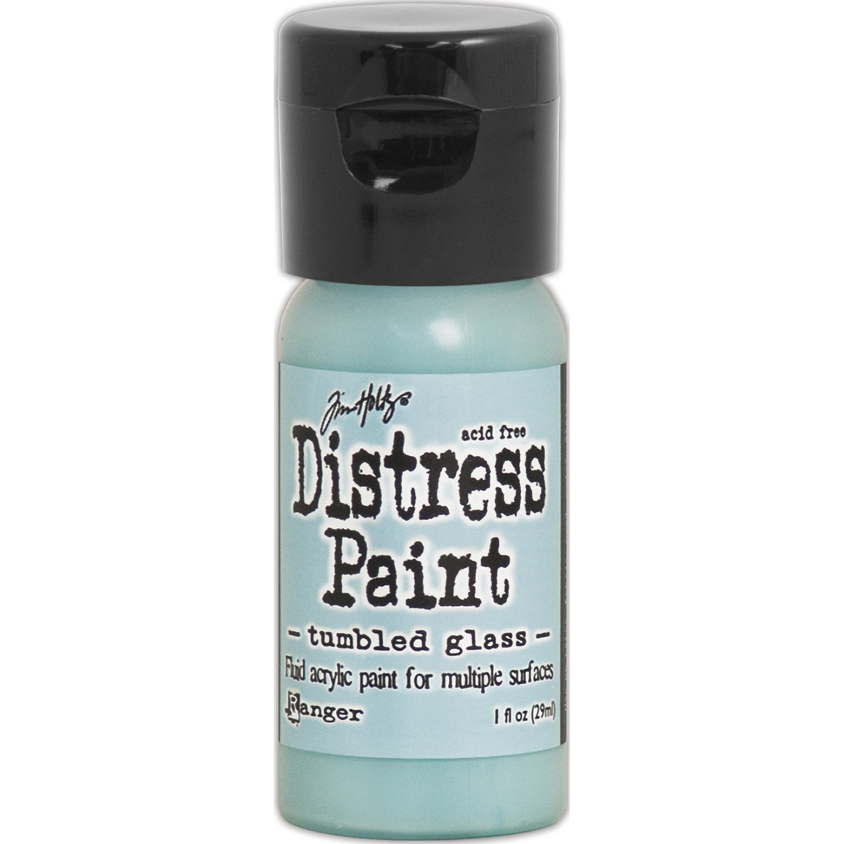 distress paint Tumbled Glass