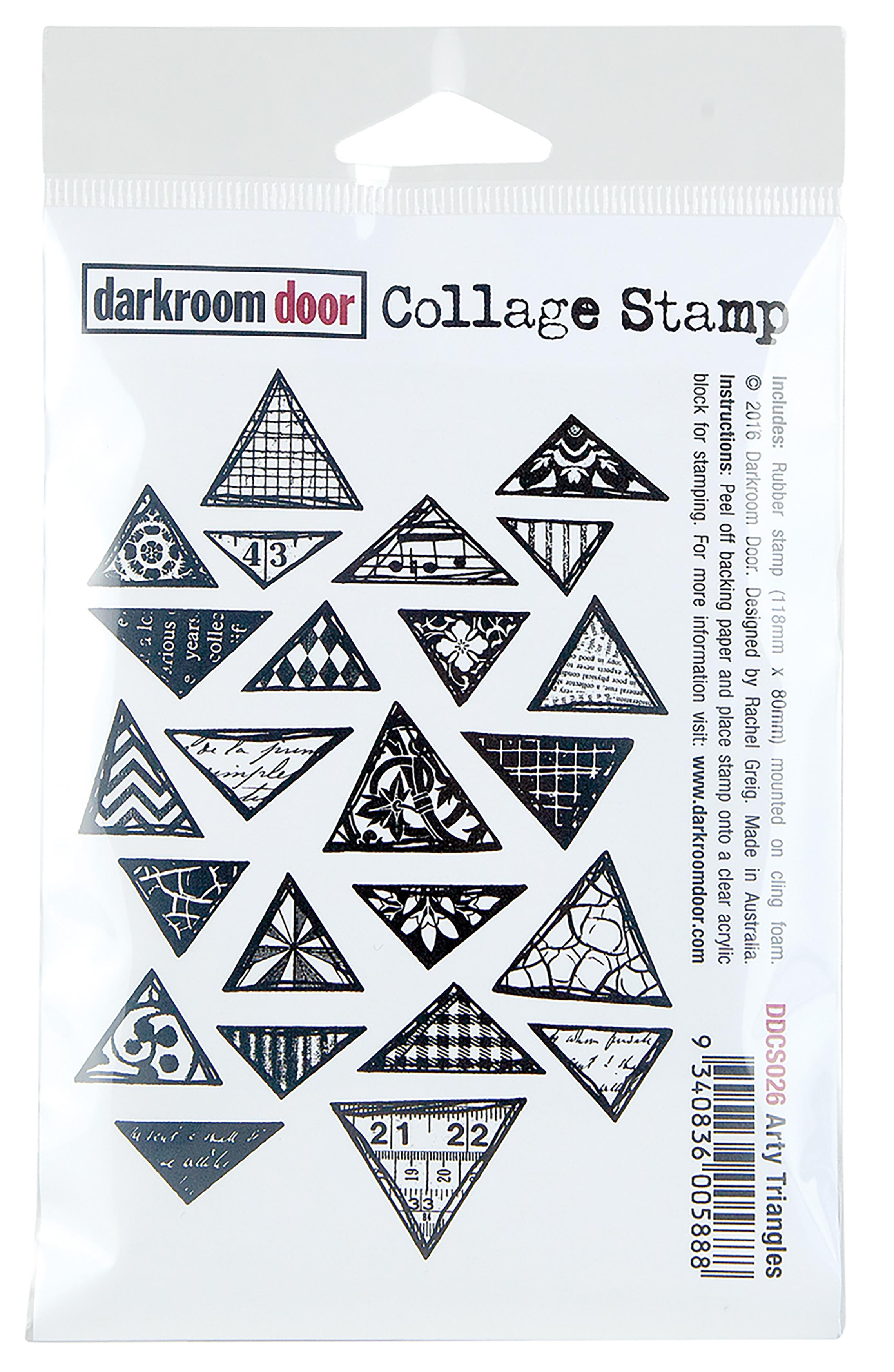 Darkroom Door Cling Stamp 4.5X3-Arty Triangles