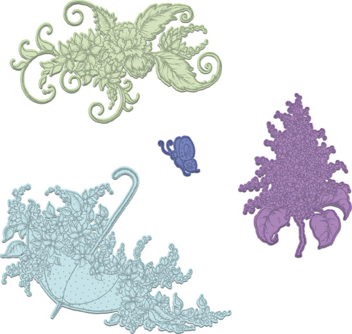 Lush Lilac/Umbrella Spray Die