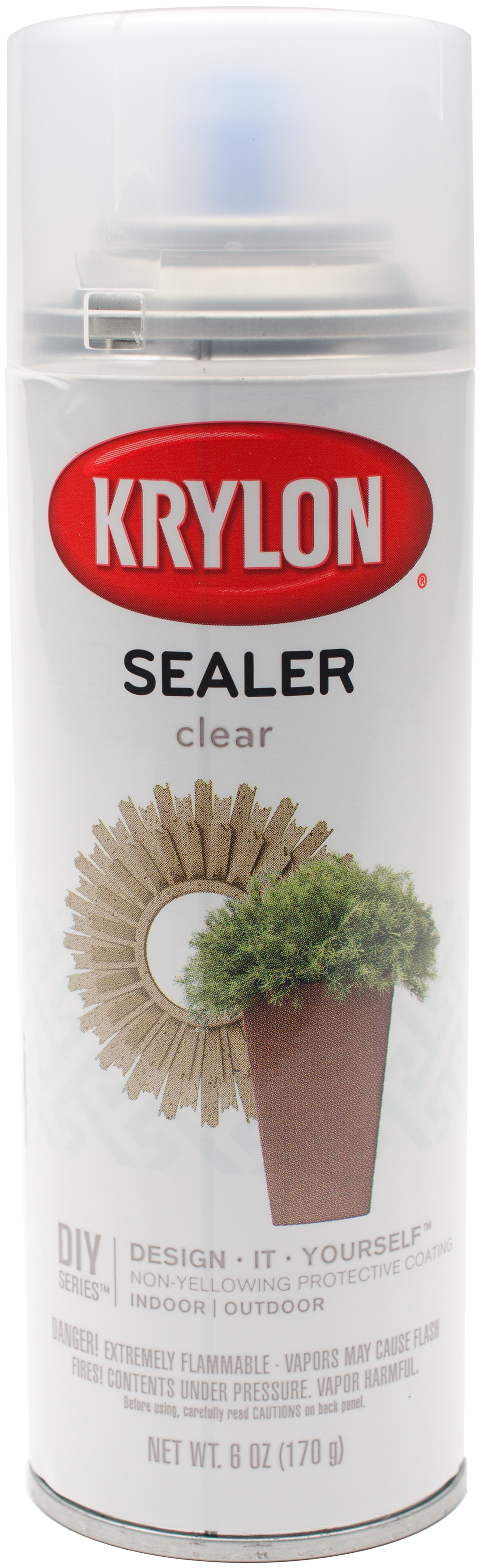 Krylon Clear Sealer Aerosol Spray 6oz-