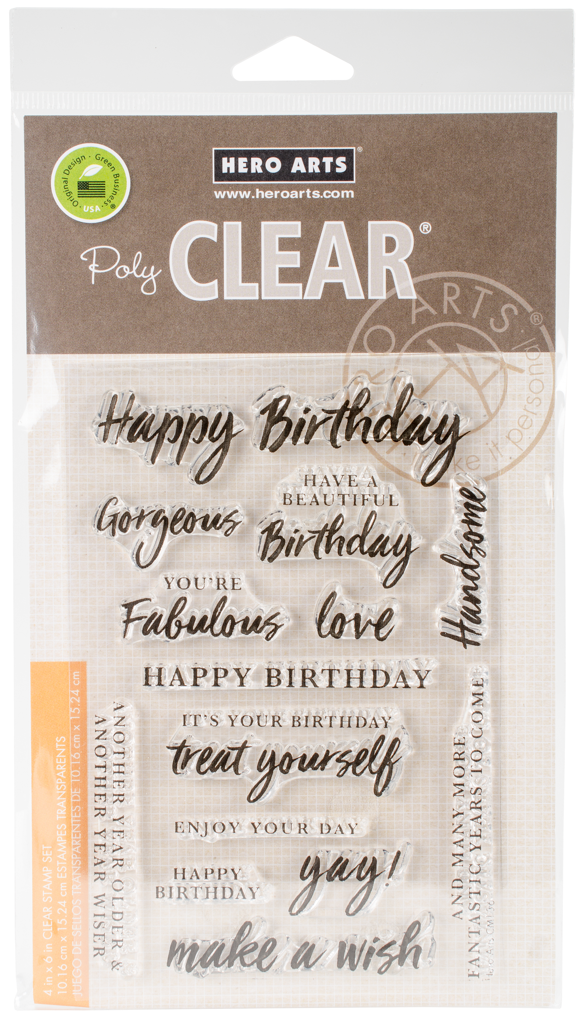Hero Arts Clear Stamps 4X6-Birthday Messages