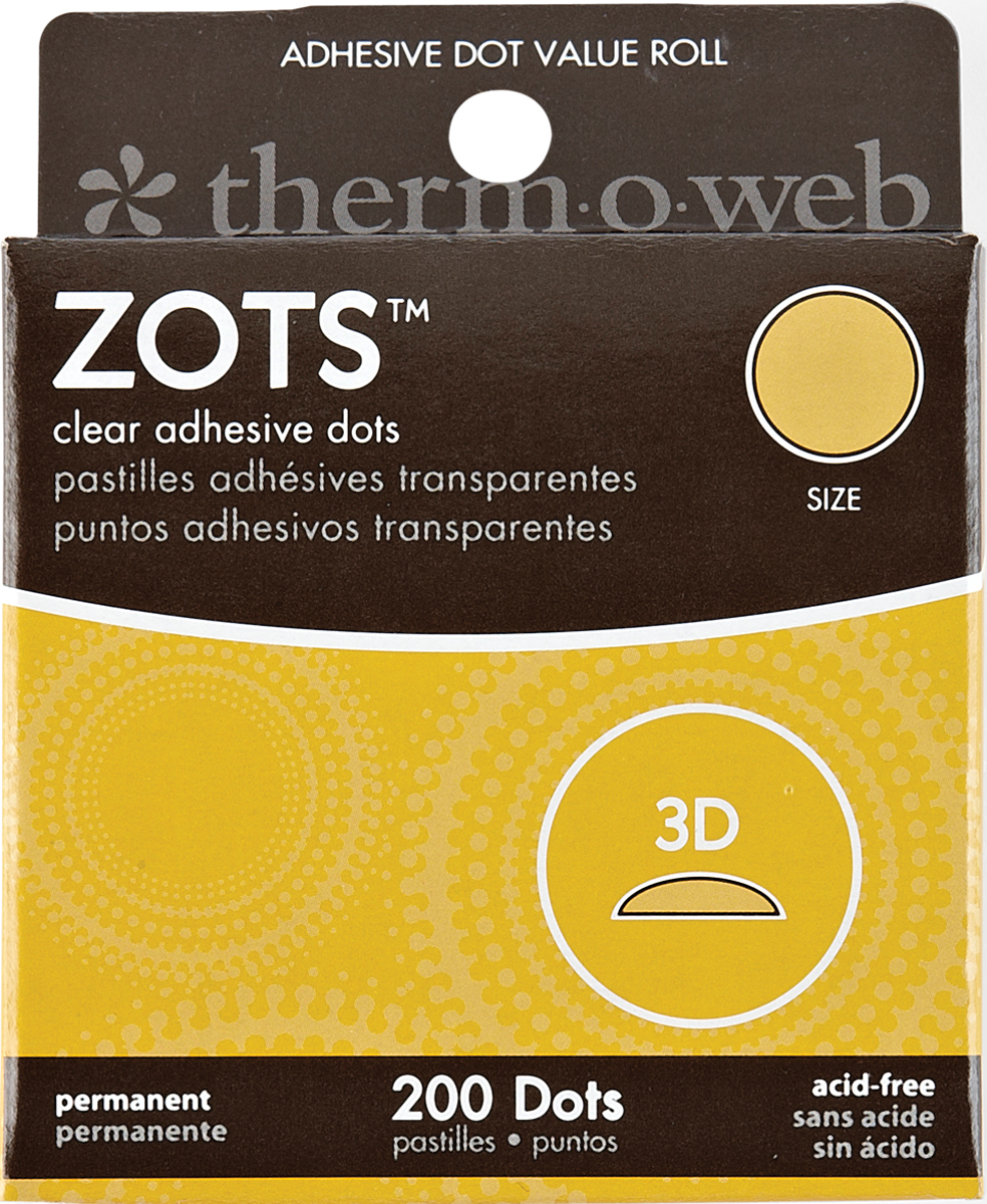 Zots Clear Adhesive Dots 3D