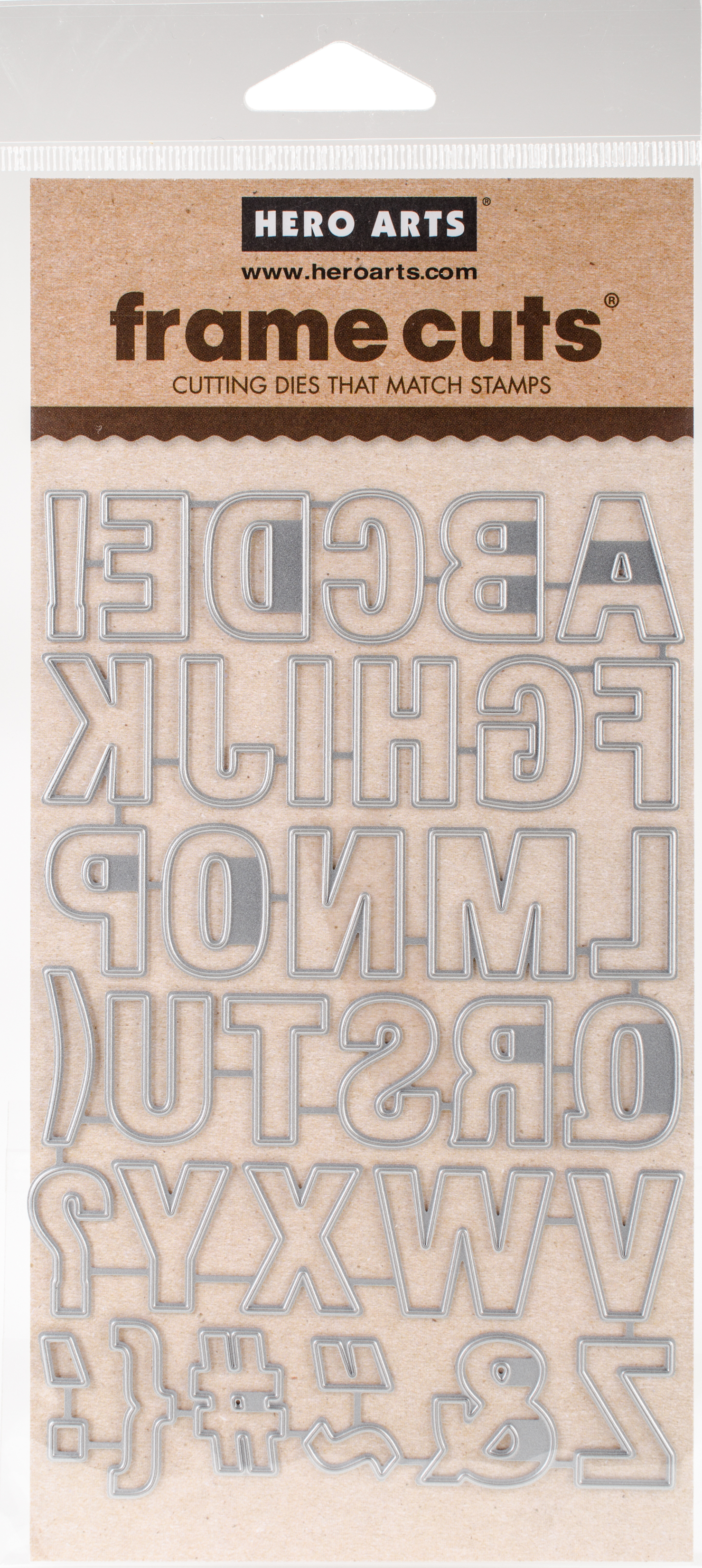 Hero Arts Frame Cut Dies-Luggage Tag Alphabet