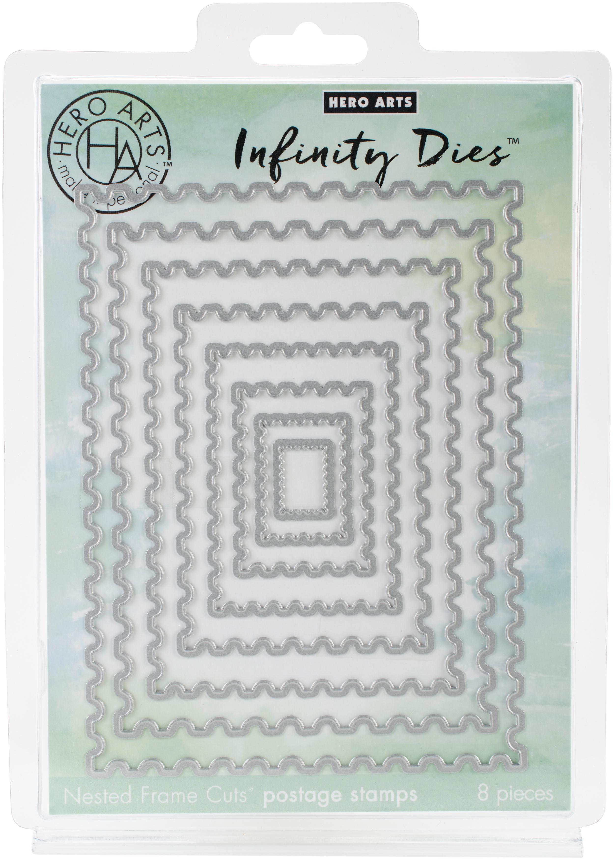 Hero Arts Infinity Dies-Nesting Postage Stamps