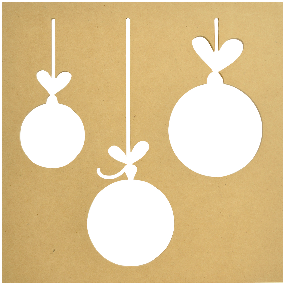 Beyond The Page MDF Baubles Silhouette Wall Art Frame-12X12
