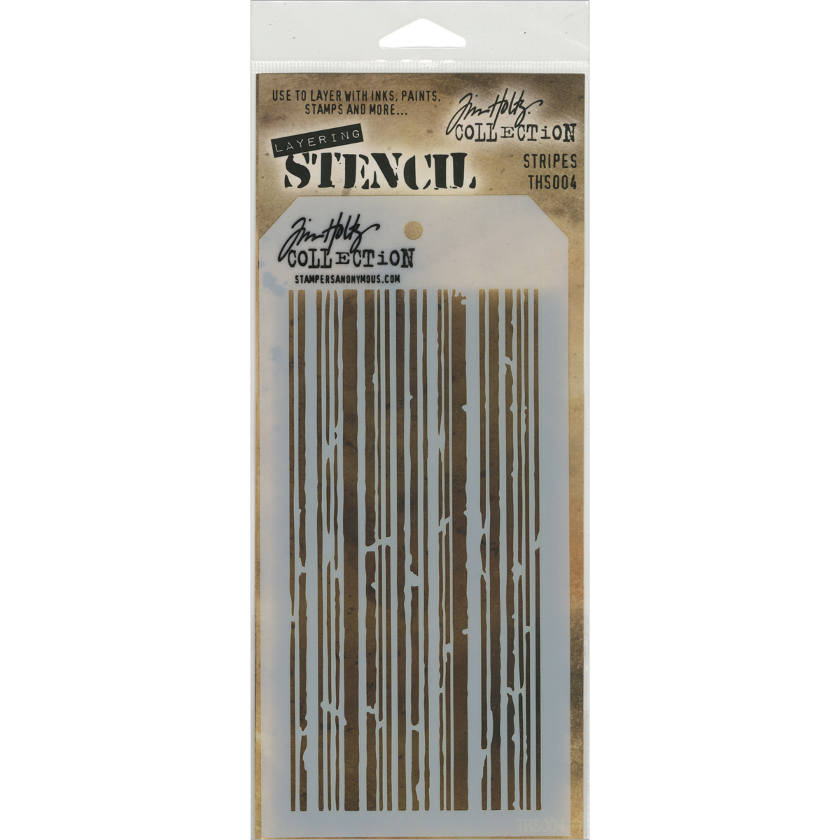 Tim Holtz Layered Stencil 4.125X8.5-Stripes