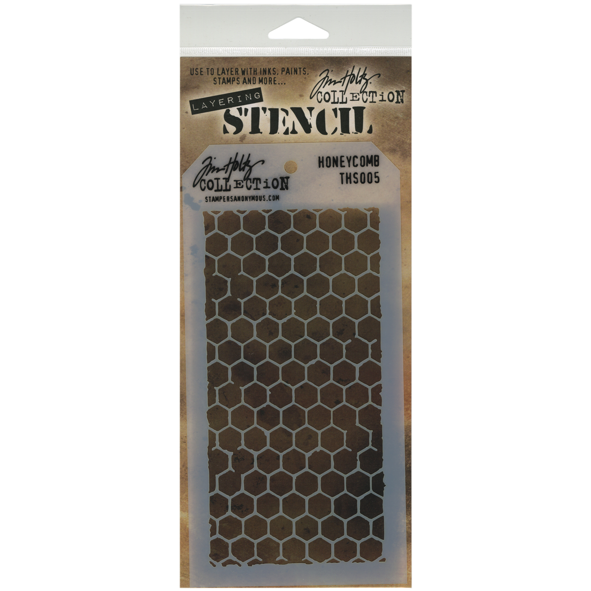 Tim Holtz Layered Stencil 4.125X8.5-Honeycomb