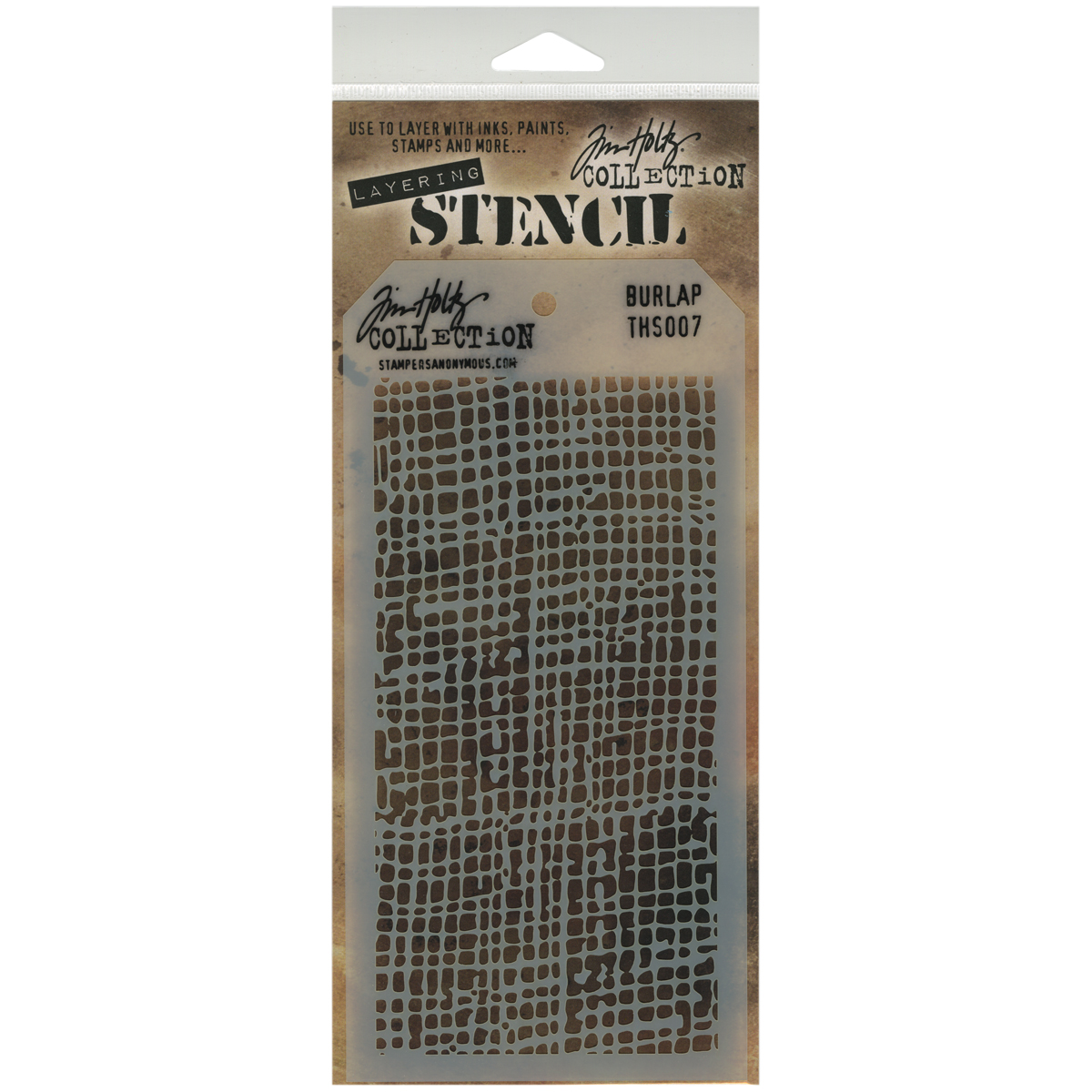 Tim Holtz Layered Stencil 4.125X8.5-Burlap
