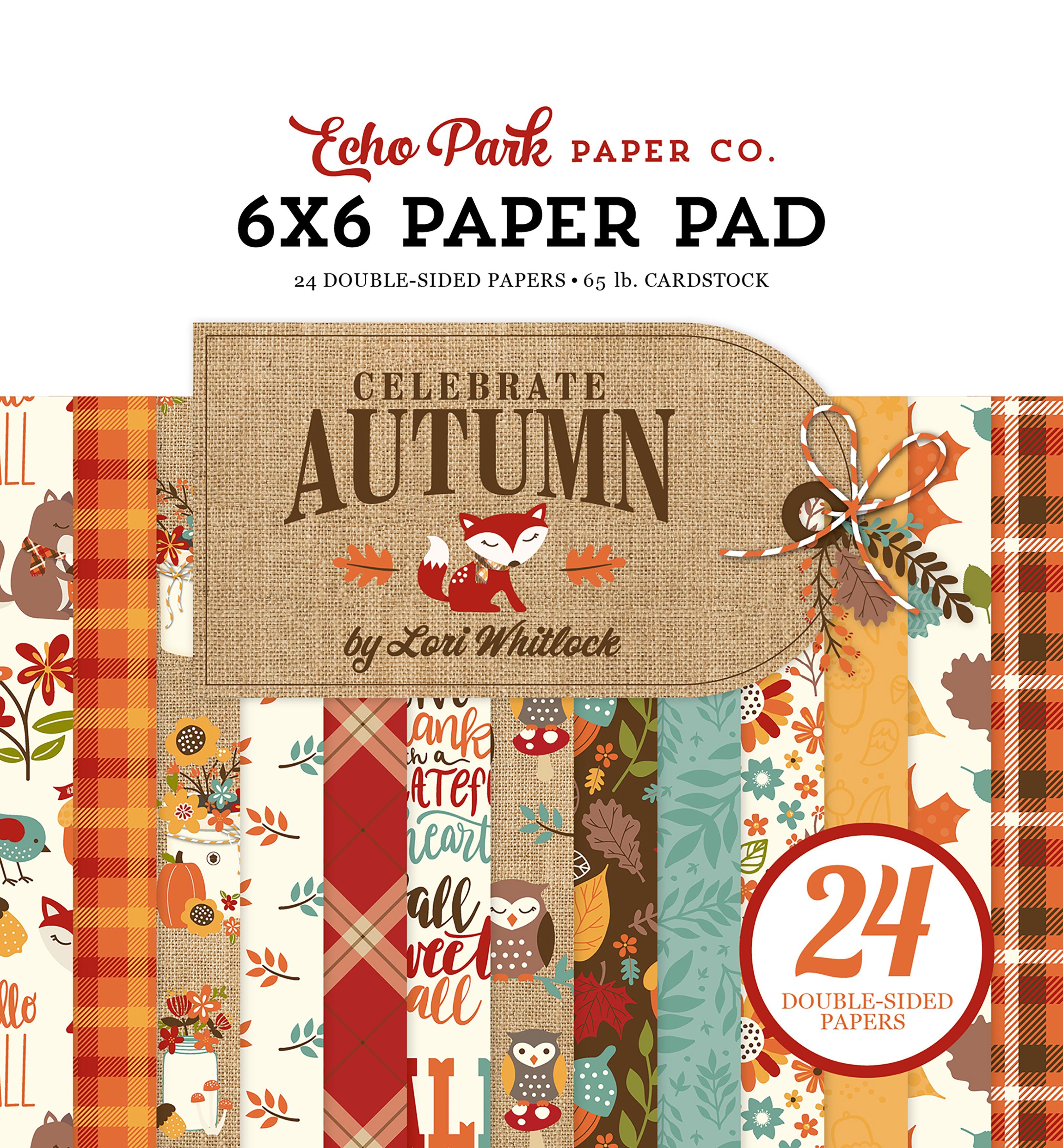Echo Park Double-Sided Paper Pad 6X6 24/Pkg-Celebrate Autumn, 12 Designs/2 Eac...