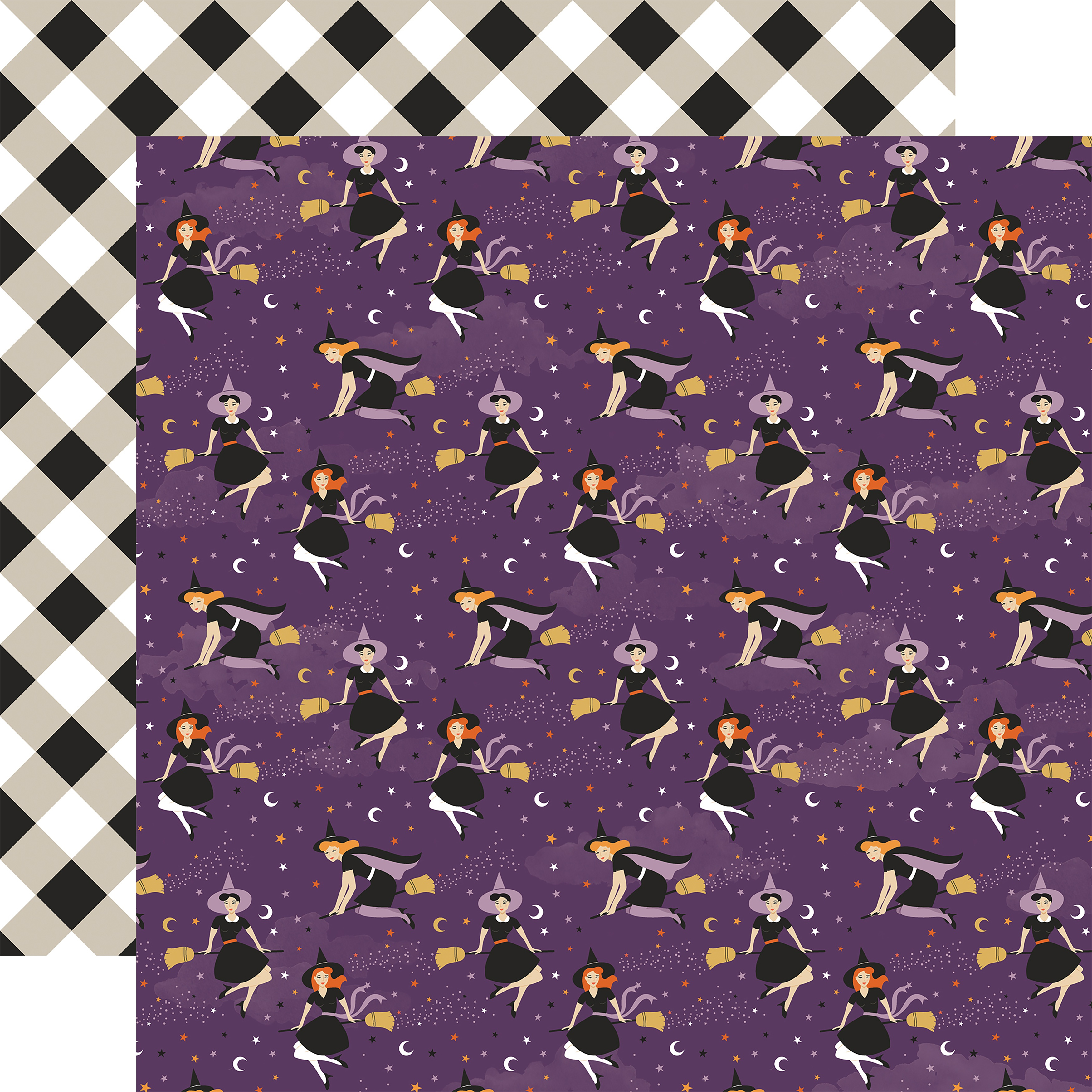 Bewitched Double-Sided Cardstock 12X12-Wicked Witches
