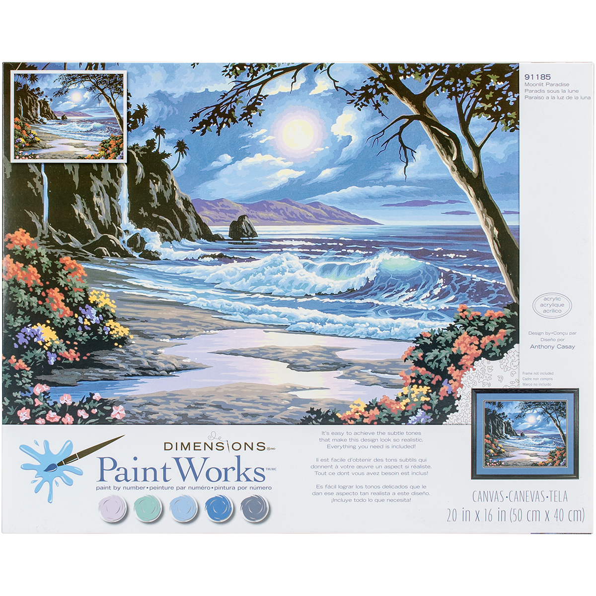 Paint Works Paint By Number Kit 20X16-Moonlit Paradise