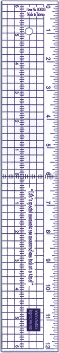 Acrylic Ruler 12-Metal Edge