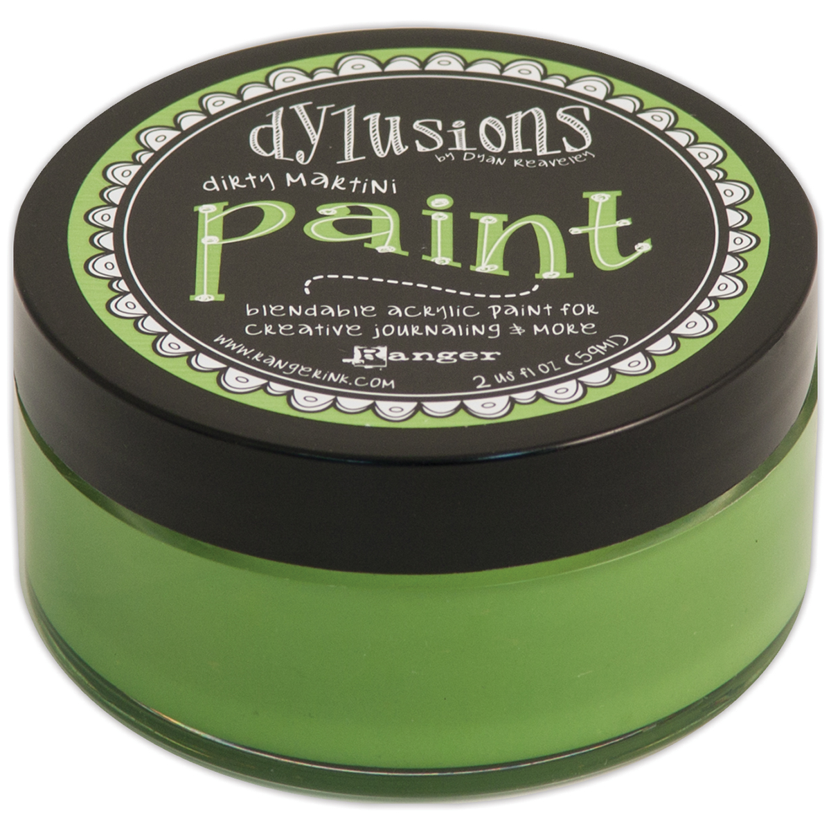 Dylusions Blendable Acrylic Paint 2oz-Dirty Martini