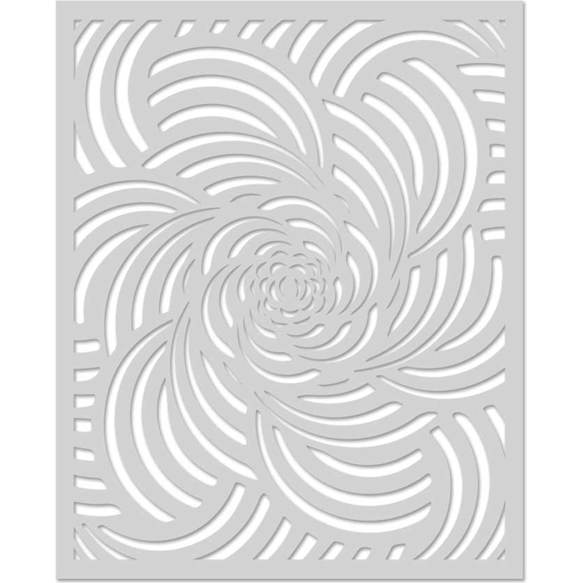Hero Arts Stencil 6.25X5.25-Spiral Petals