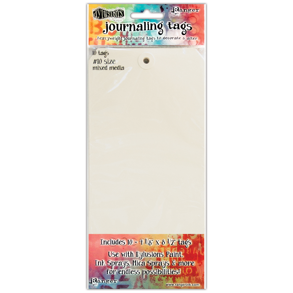Dyan Reaveley's Dylusions Journal Tags 10/Pkg-Media Paper #10