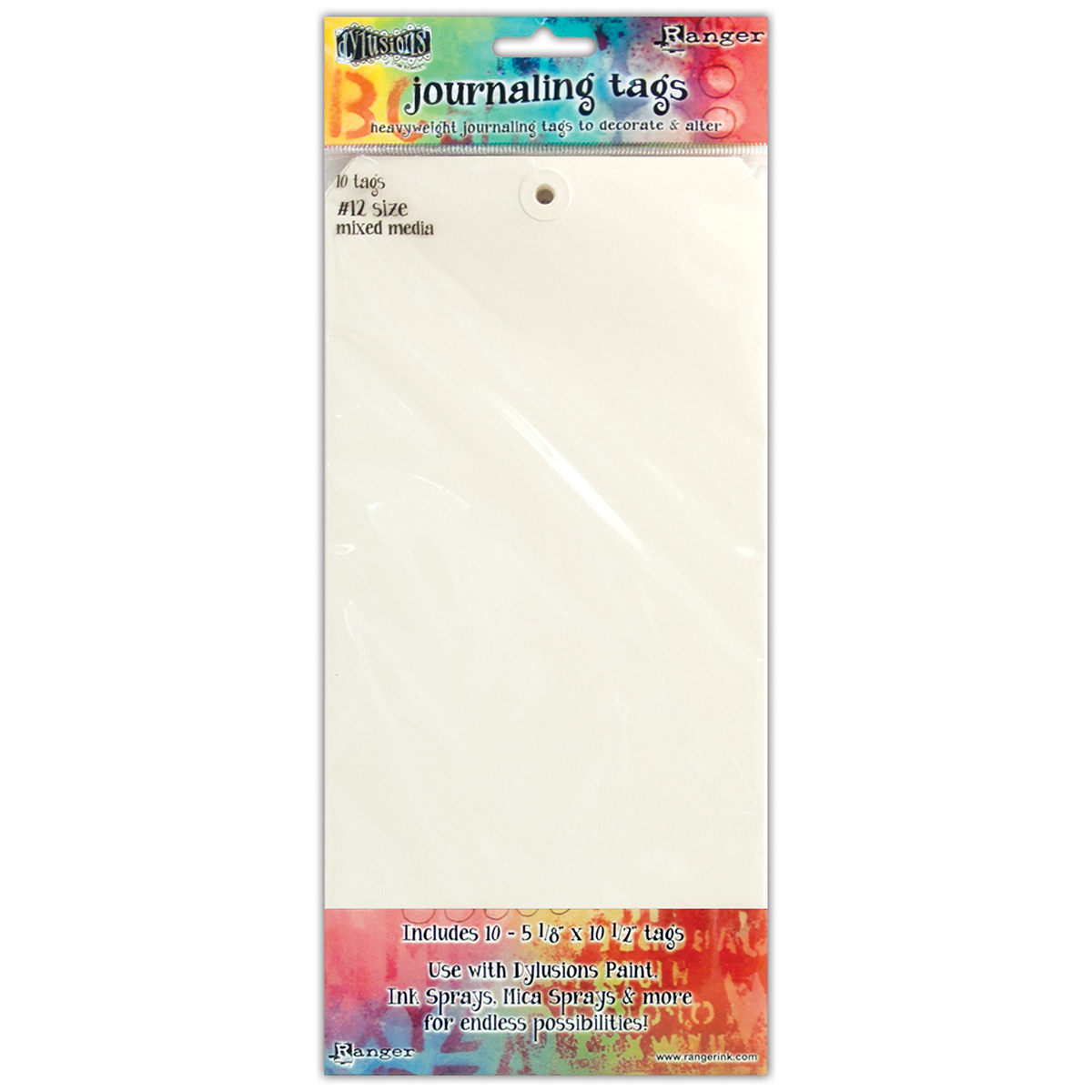 Dyan Reaveley's Dylusions Journal Tags 10/Pkg-Media Paper #12