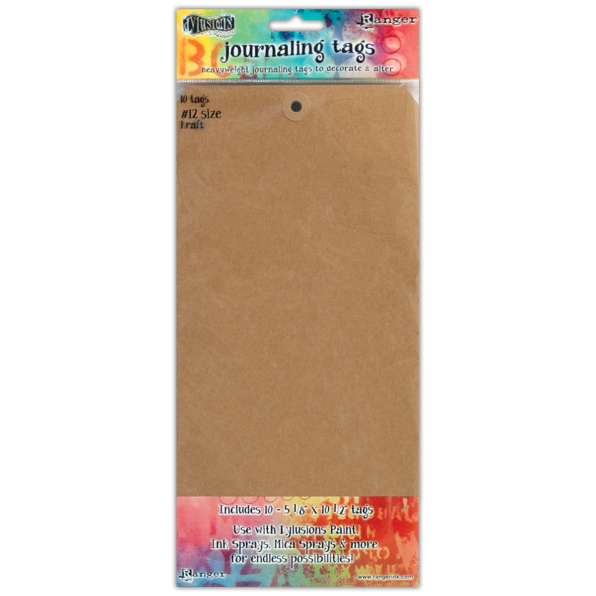 Dyan Reaveley's Dylusions Journal Tags 10/Pkg-Kraft #12