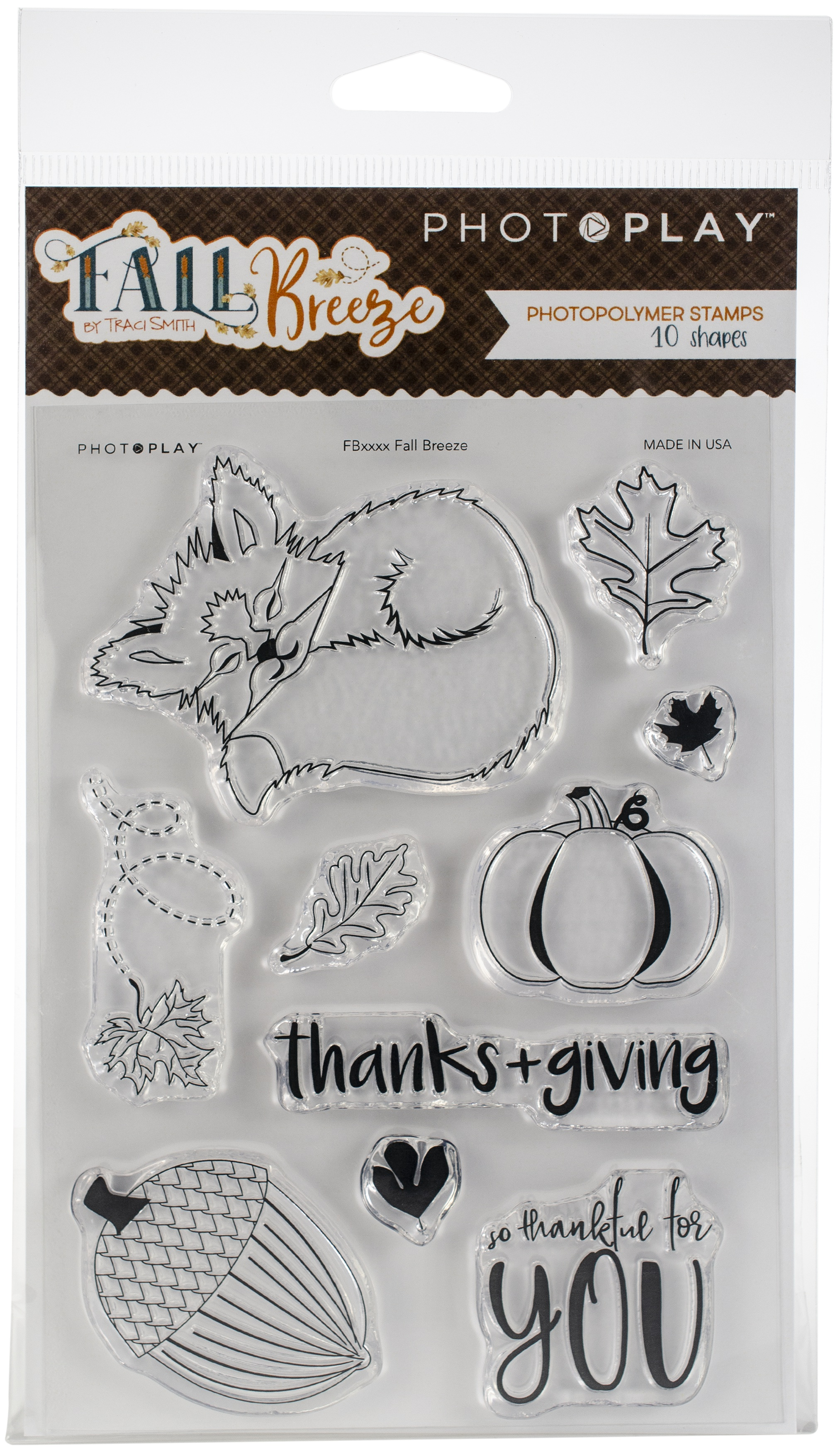 PhotoPlay Photopolymer Stamp-Fall Breeze