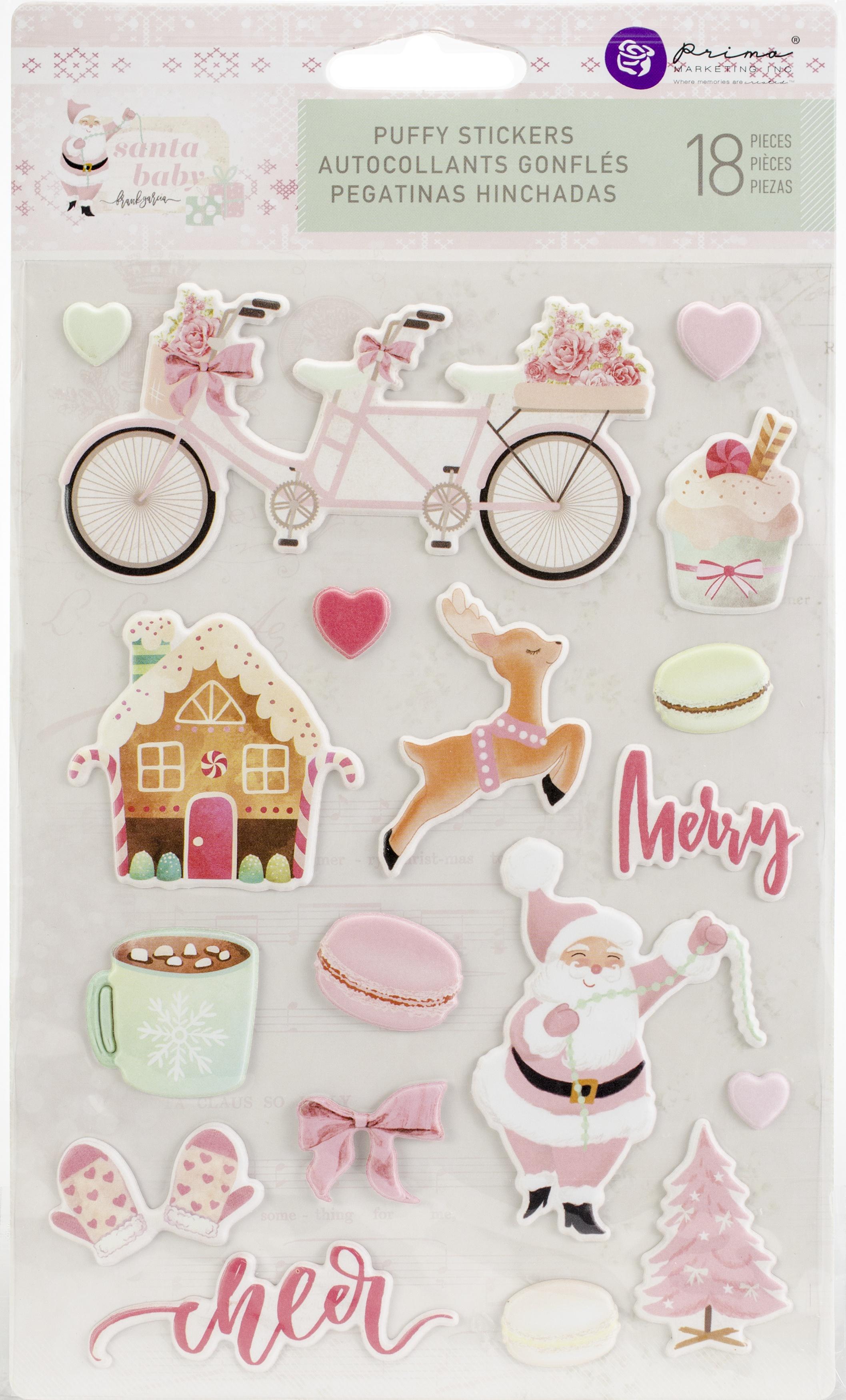 Prima Marketing Santa Baby Puffy Stickers-