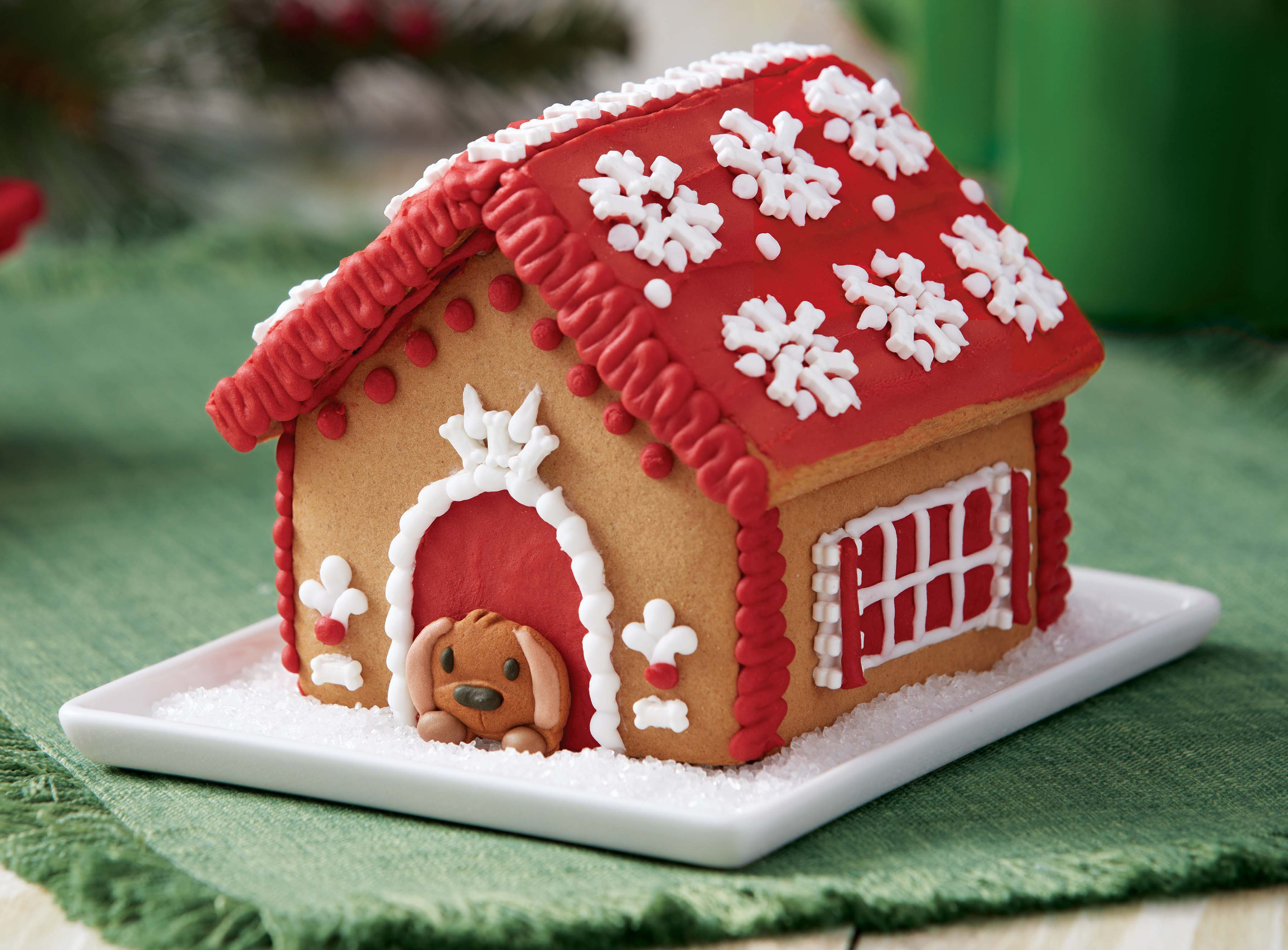 Unassembled Gingerbread House Kit-Dog House