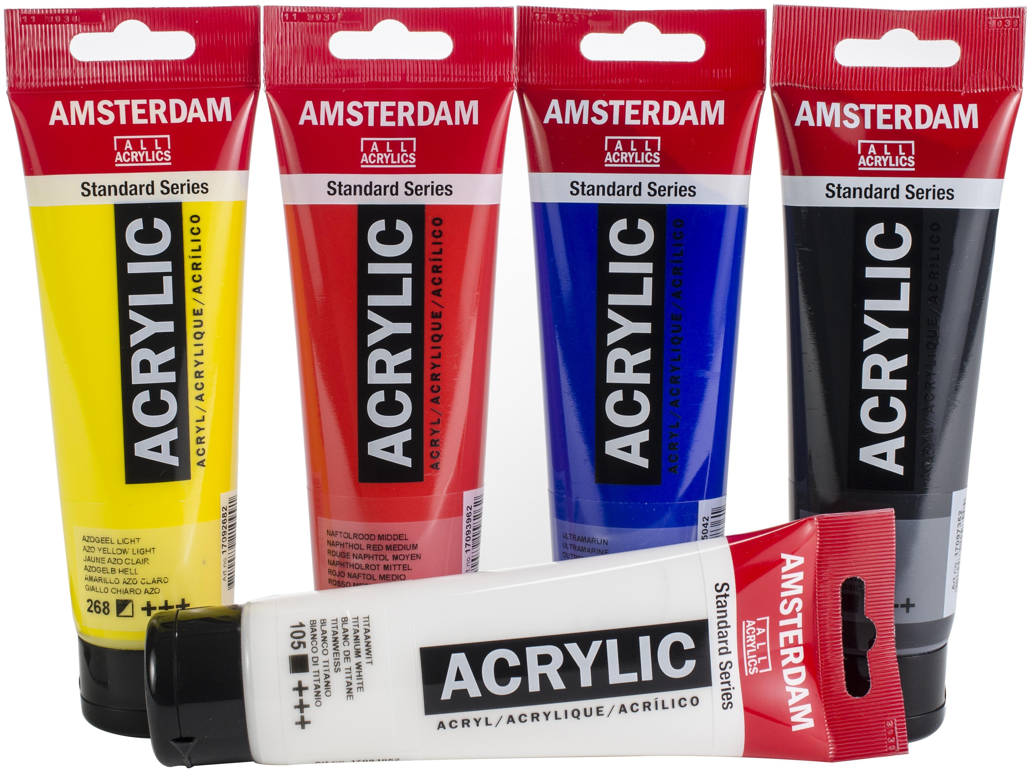Amsterdam 120ml Standard Acrylic Paint Set 5/Pkg-Mixing