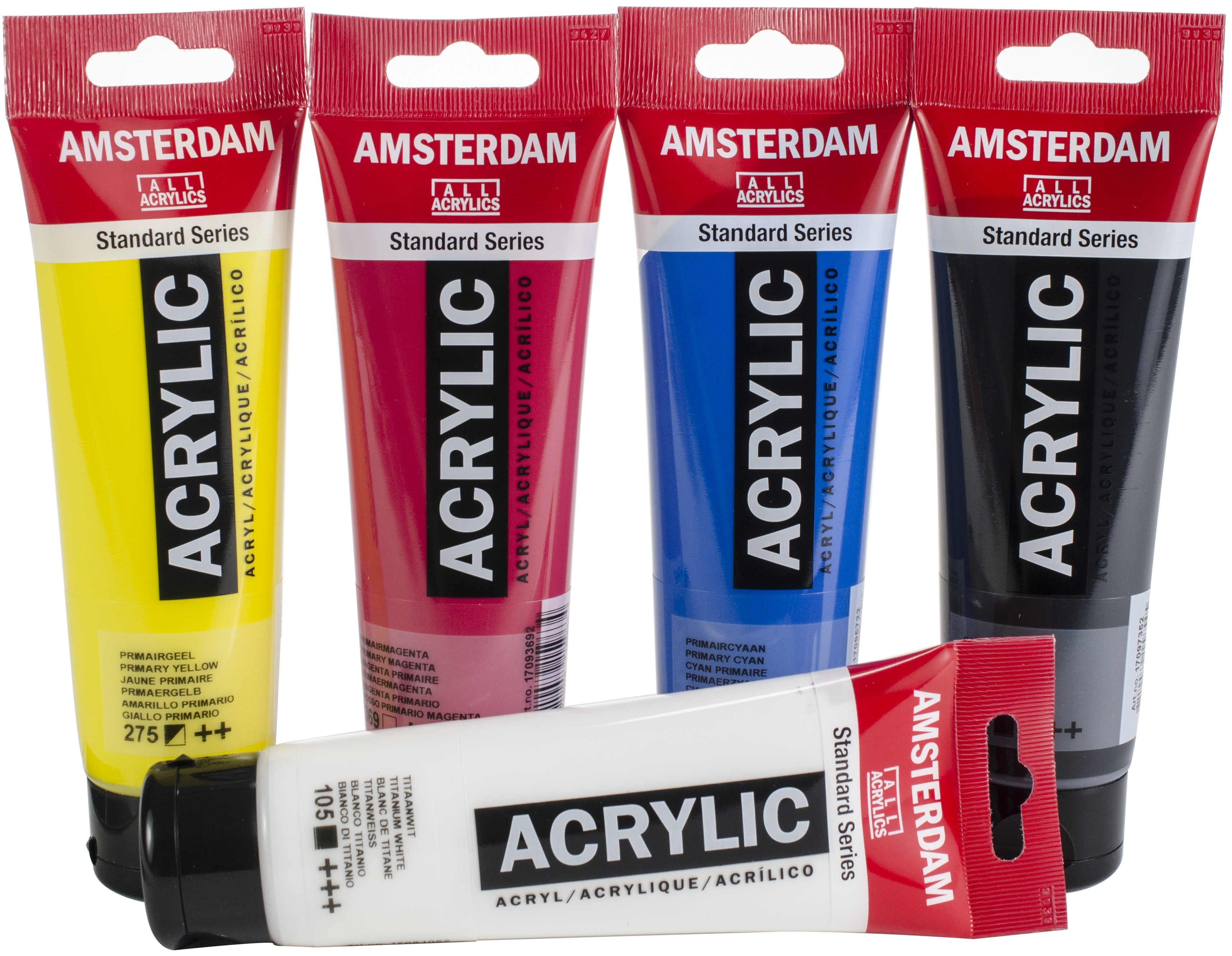 Amsterdam 120ml Standard Acrylic Paint Set 5/Pkg-Primary